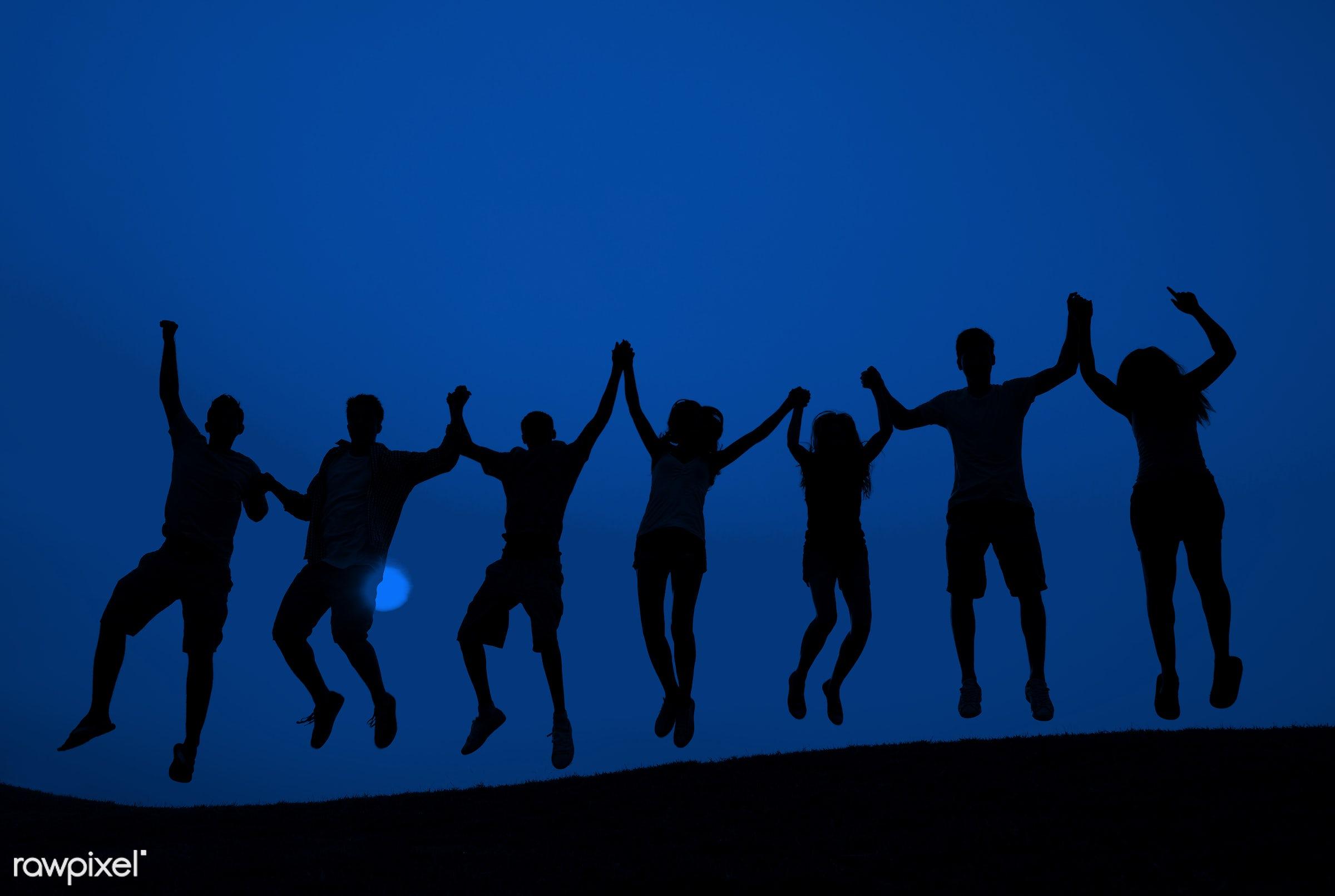 achievement, arms raised, blue, boys, break, celebration, cheerful, confidence, cooperation, diversity, enjoyment,...
