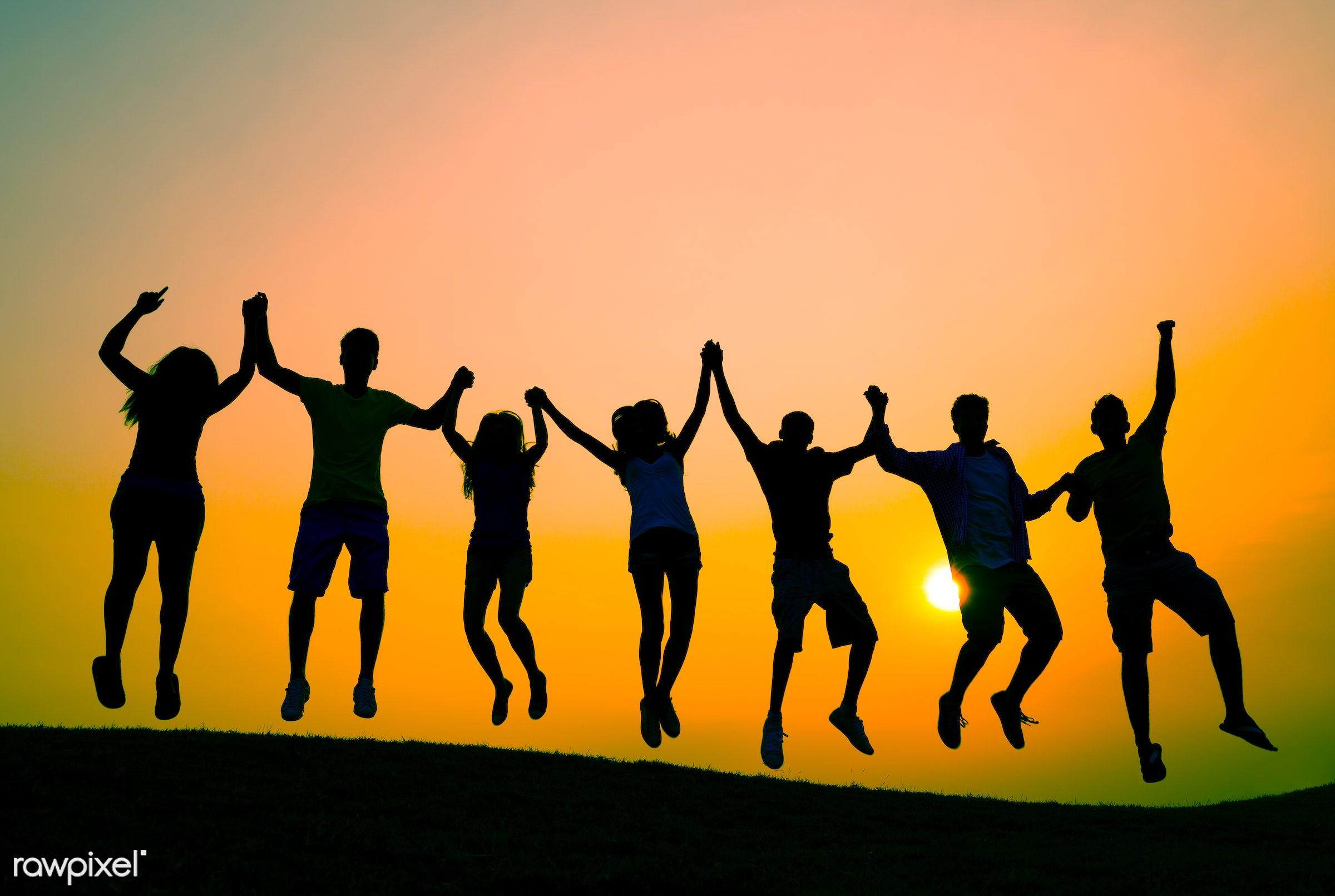 achievement, arms raised, boys, break, celebration, cheerful, confidence, cooperation, diversity, enjoyment, excitement,...