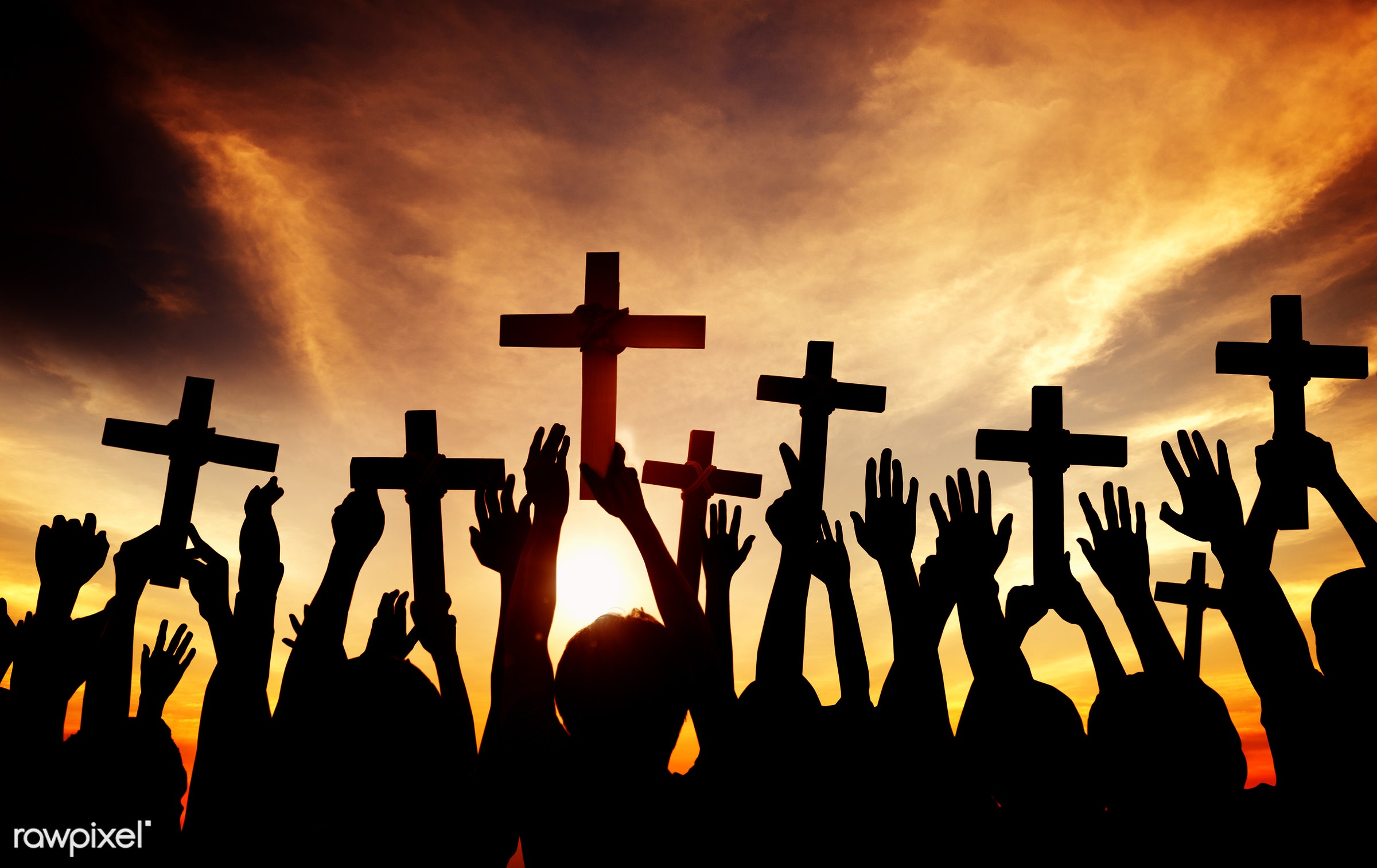 applauding, arms outstretched, arms raised, aspiration, back lit, believe, christian, christianity, church, cloud,...