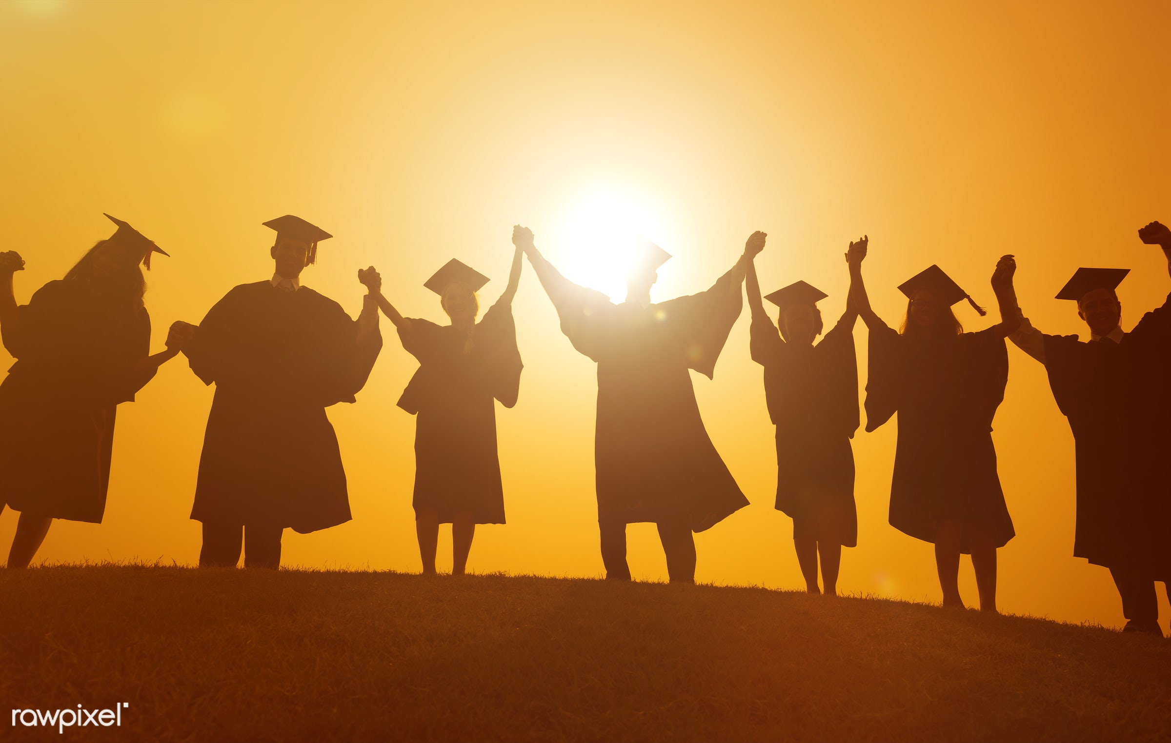achievement, adult, arms outstretched, arms raised, celebration, celebration event, ceremony, cheerful, college student,...