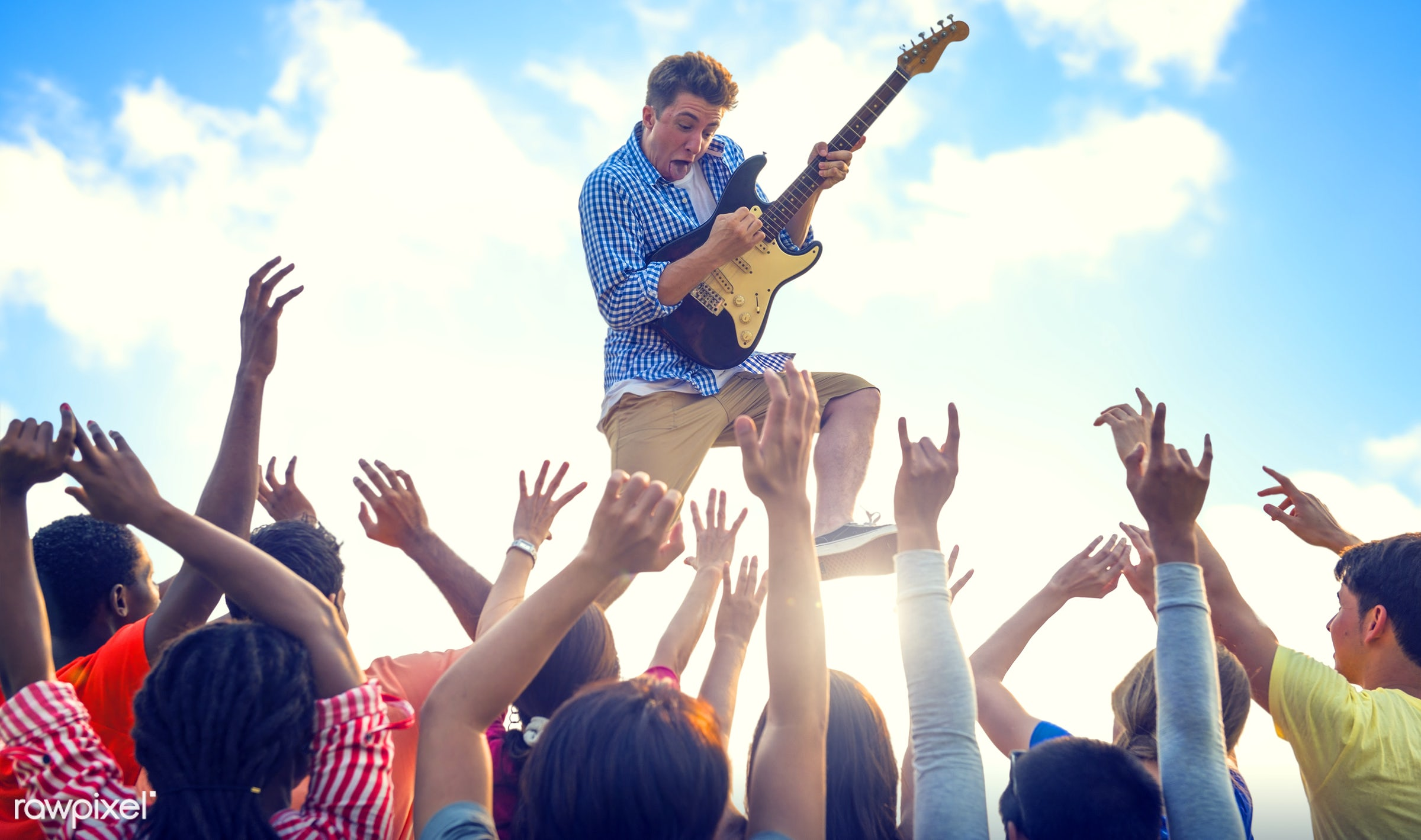 concert, adolescence, audience, beach, beach party, carefree, celebration, cheerful, dancing, ecstatic, enjoyment,...