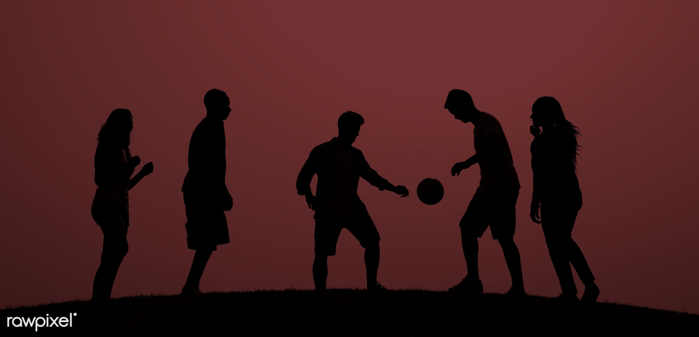 dusk, action, ball, competitive sport, exercising, figure, football, football player, grass, group of people, leisure,...