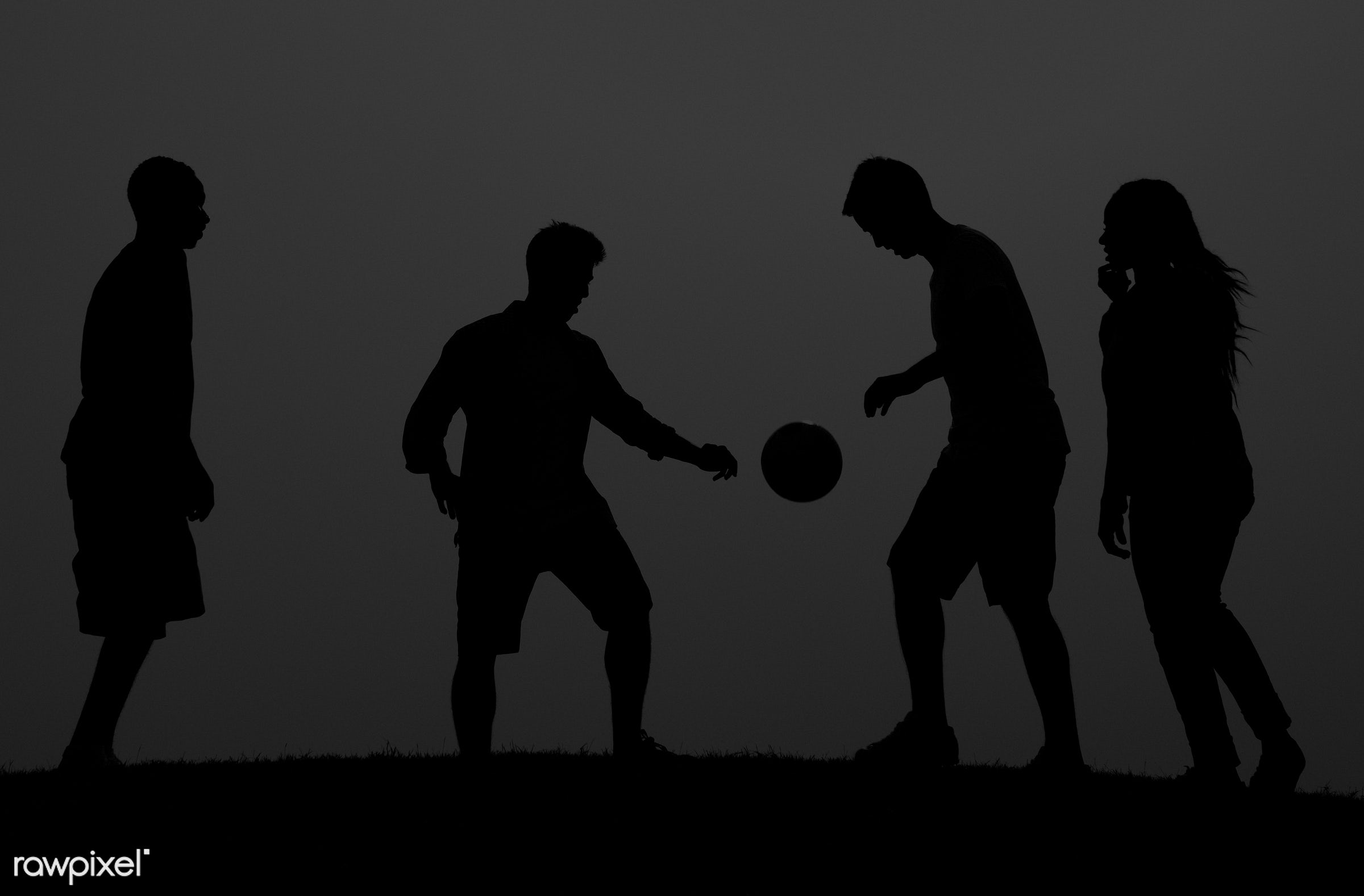 action, active, ball, bonding, boys, dusk, evening, field, football, friends, friendship, fun, game, girl, kicking, leisure...