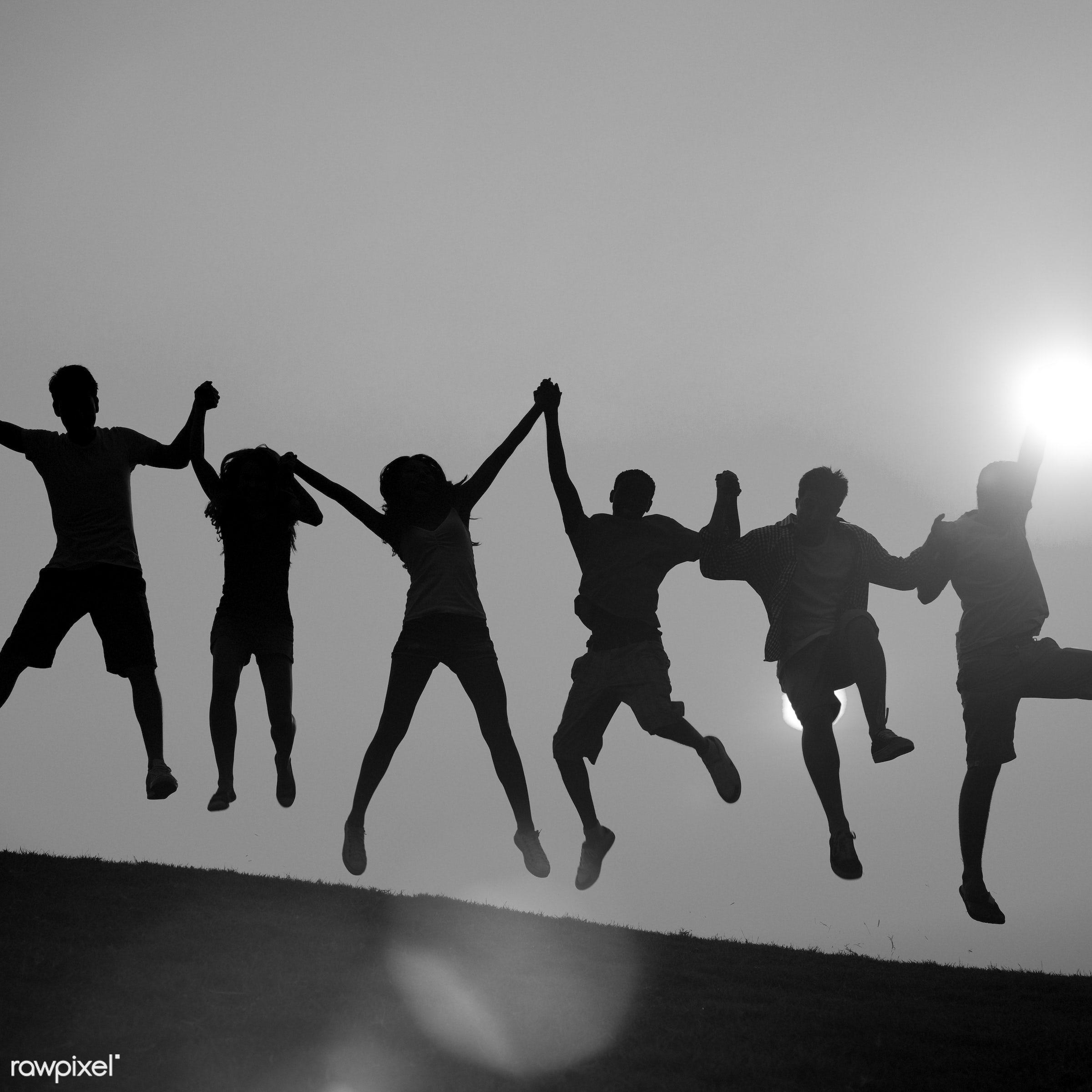 achievement, arms raised, celebration, cheerful, community, confidence, cooperation, enjoyment, environment, excitement,...