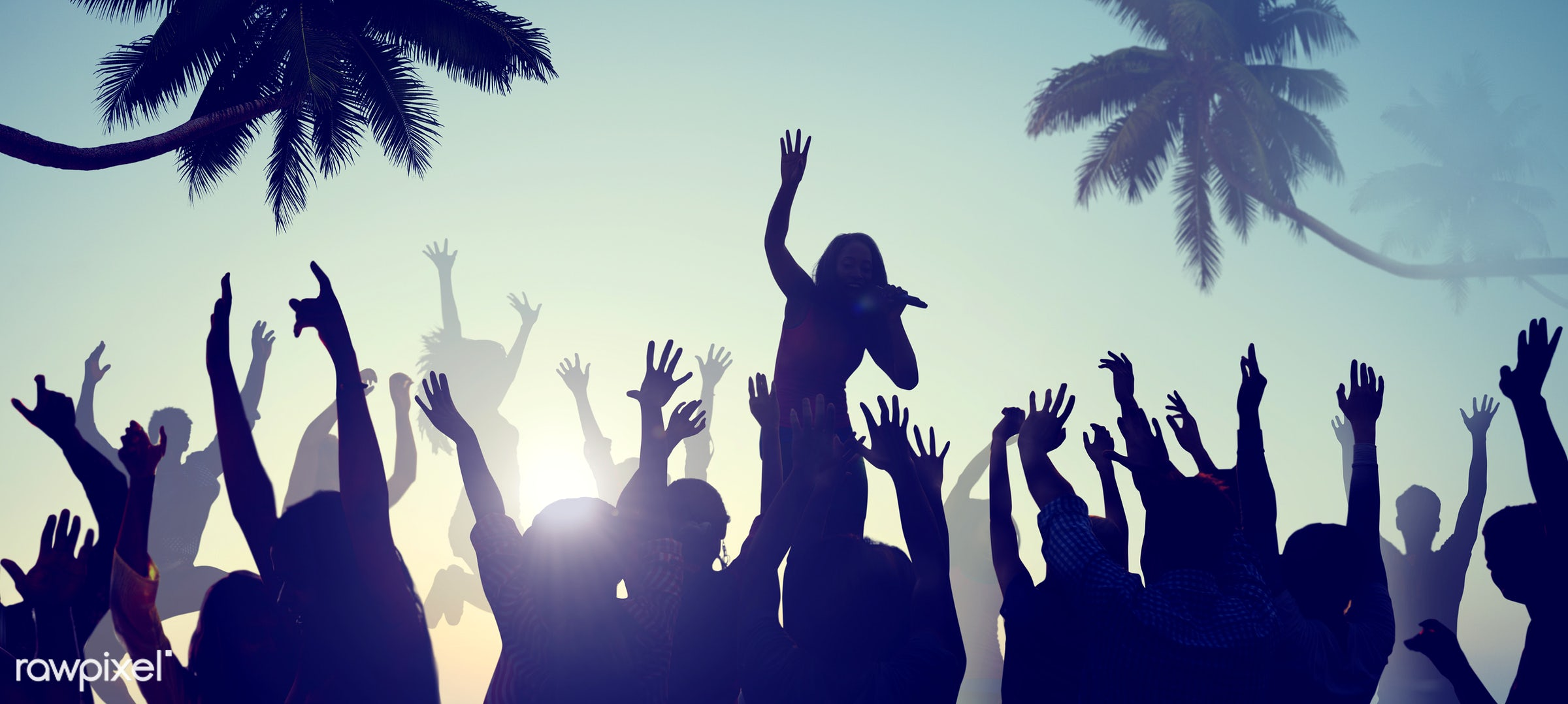 active, activity, adolescence, back lit, beach, beach party, carefree, celebration, cheerful, concert, dancing, ecstatic,...