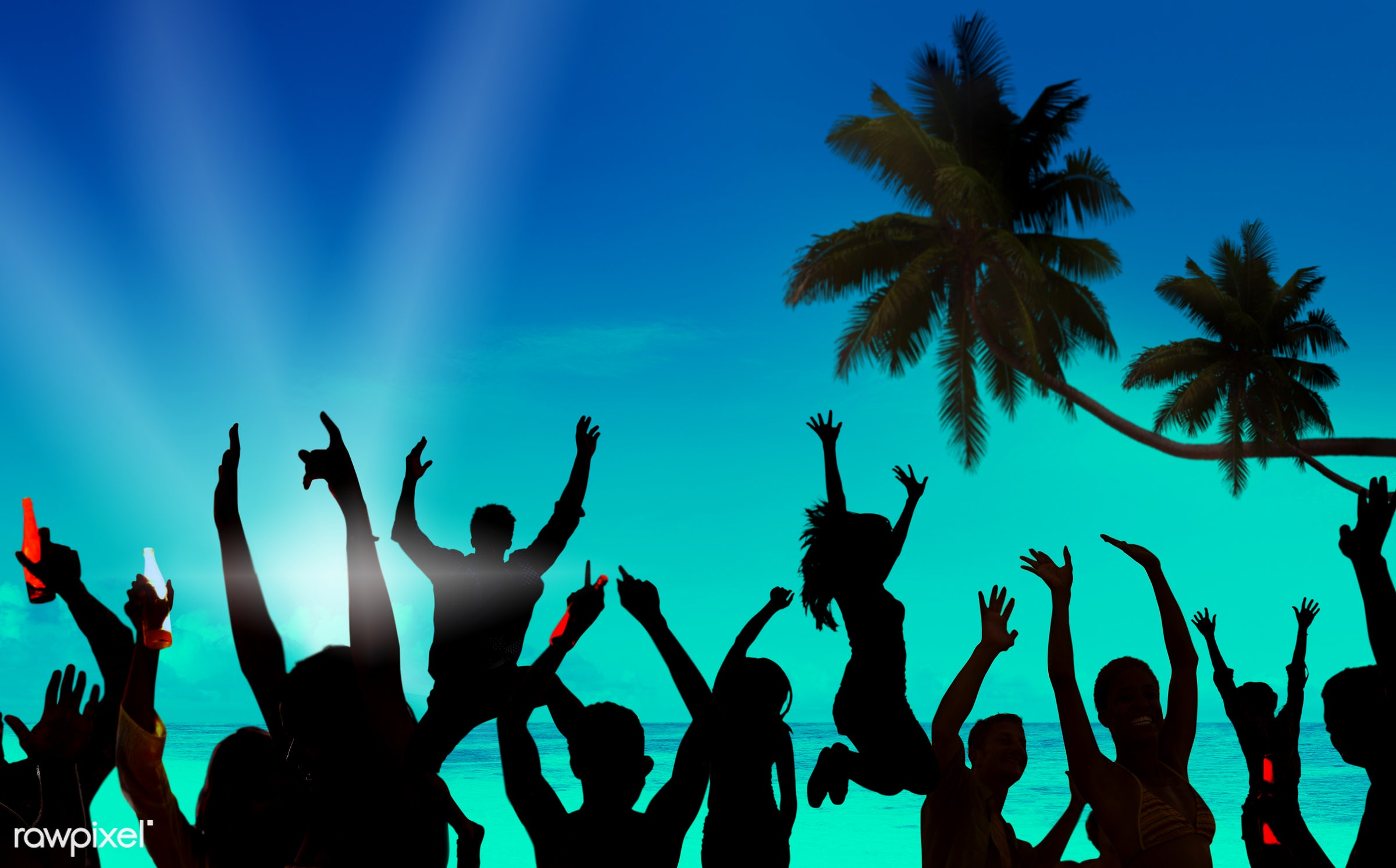 active, activity, adolescence, back lit, beach, beach party, carefree, celebration, cheerful, dancing, drinking, ecstatic,...