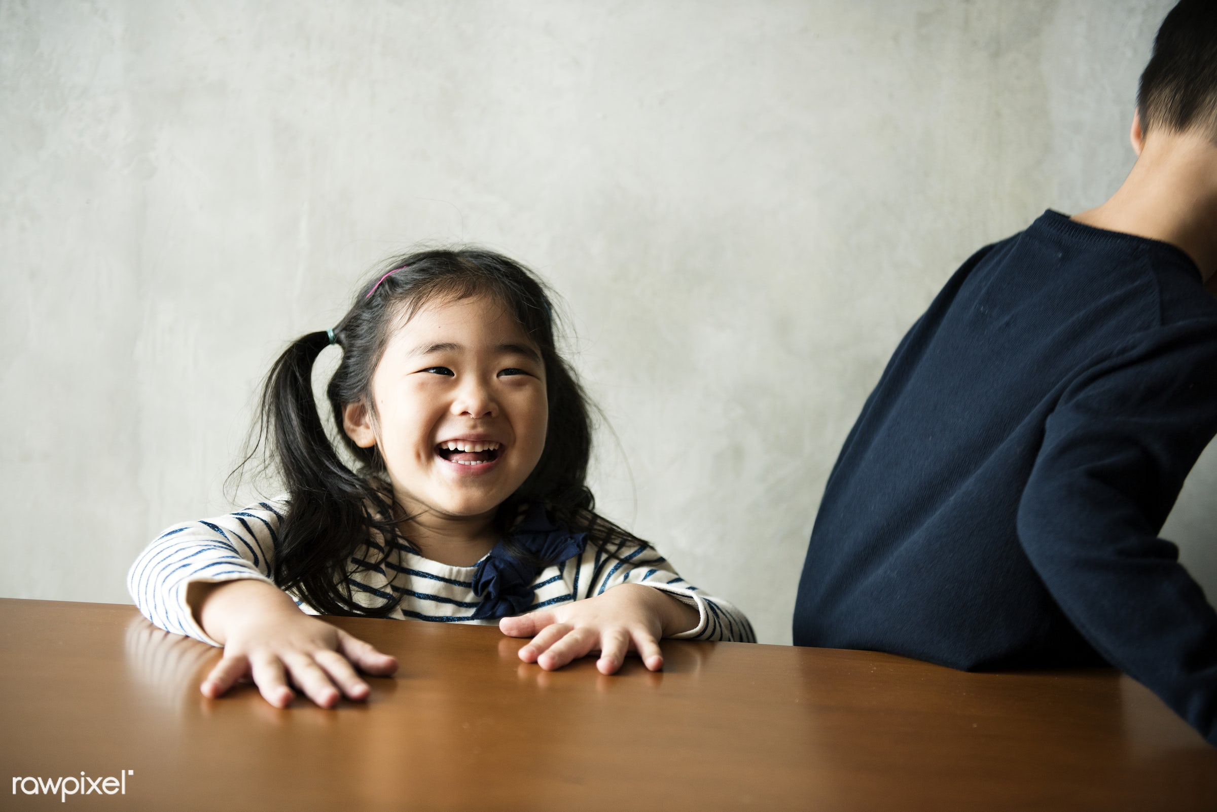 Cheerful japanese girl - adorable, asia, asian, brother, casual, childhood, children, family, innocence, japan, japanese,...
