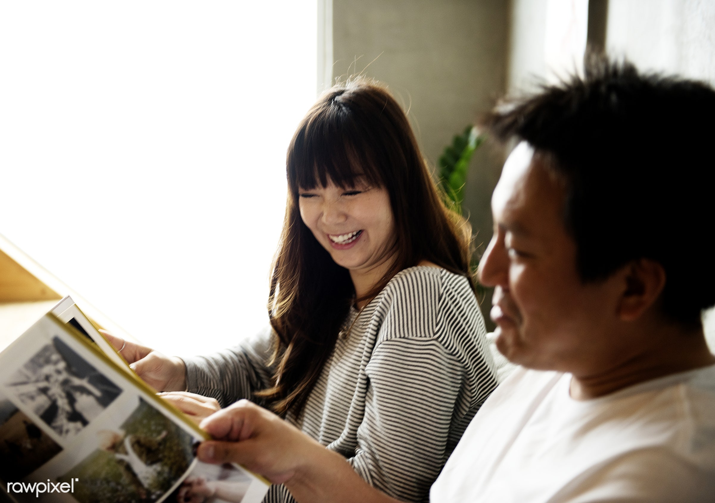 Japanese husband and wife - family, album, asia, asian, couple, happiness, home, house, husband, japan, japanese, leisure,...