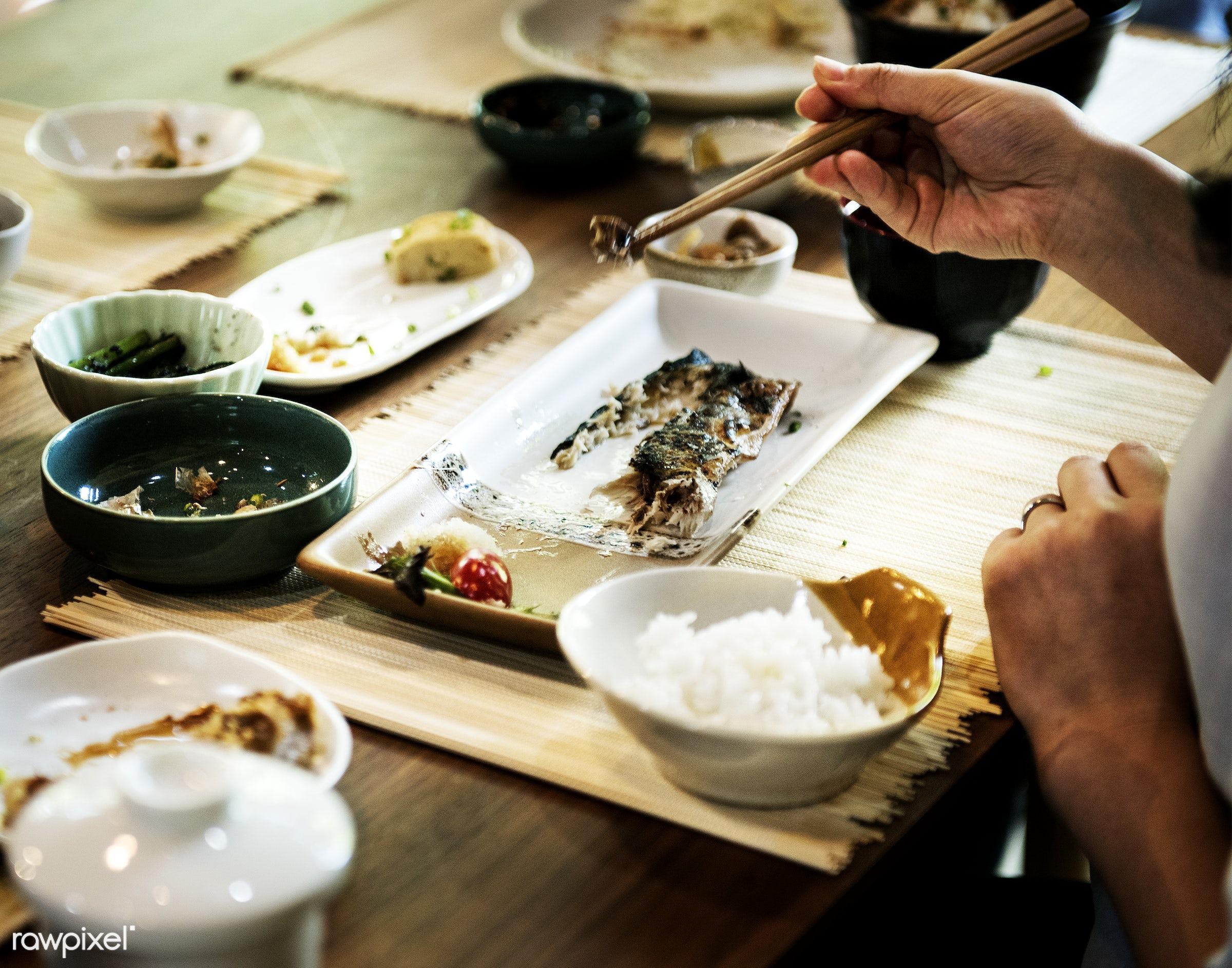 Japanese food - japanese, asia, asian, chopsticks, closeup, combination, cuisine, culture, delicious, dinner, eating, food,...