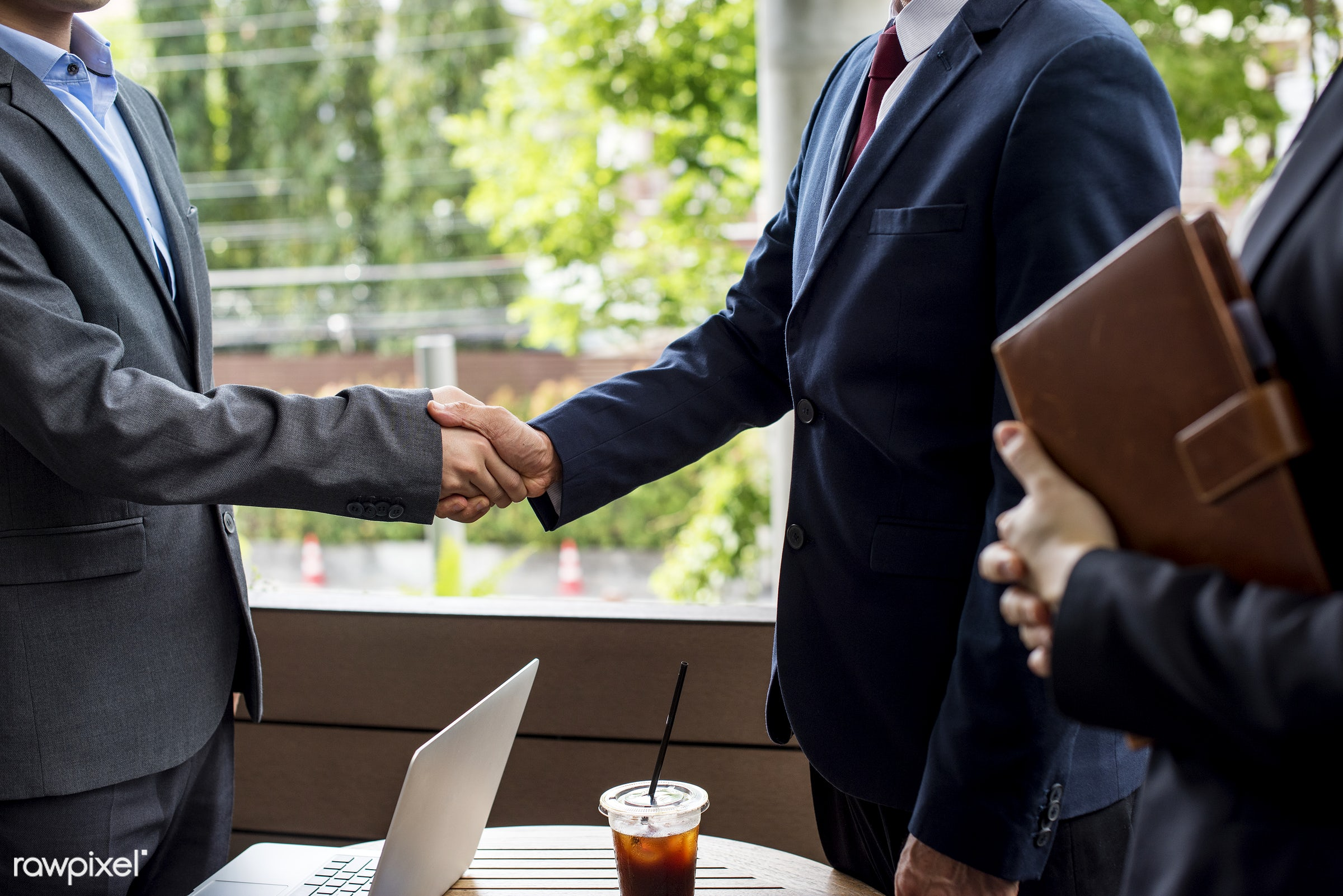 Japanese businessmen having an agreement - asia, asian, business, cafe, coffeeshop, collaboration, communication, corporate...