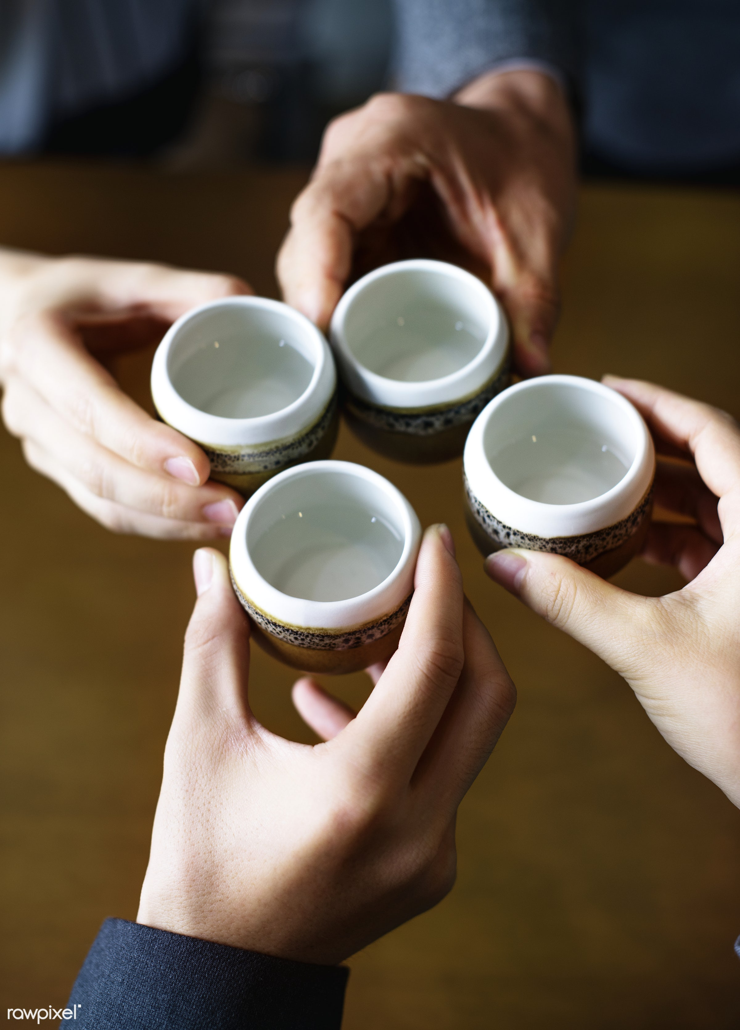 Japanese friends tea party - japanese, japan, asia, asian, celebration, ceremony, cheers, culture, drinking, family, formal...