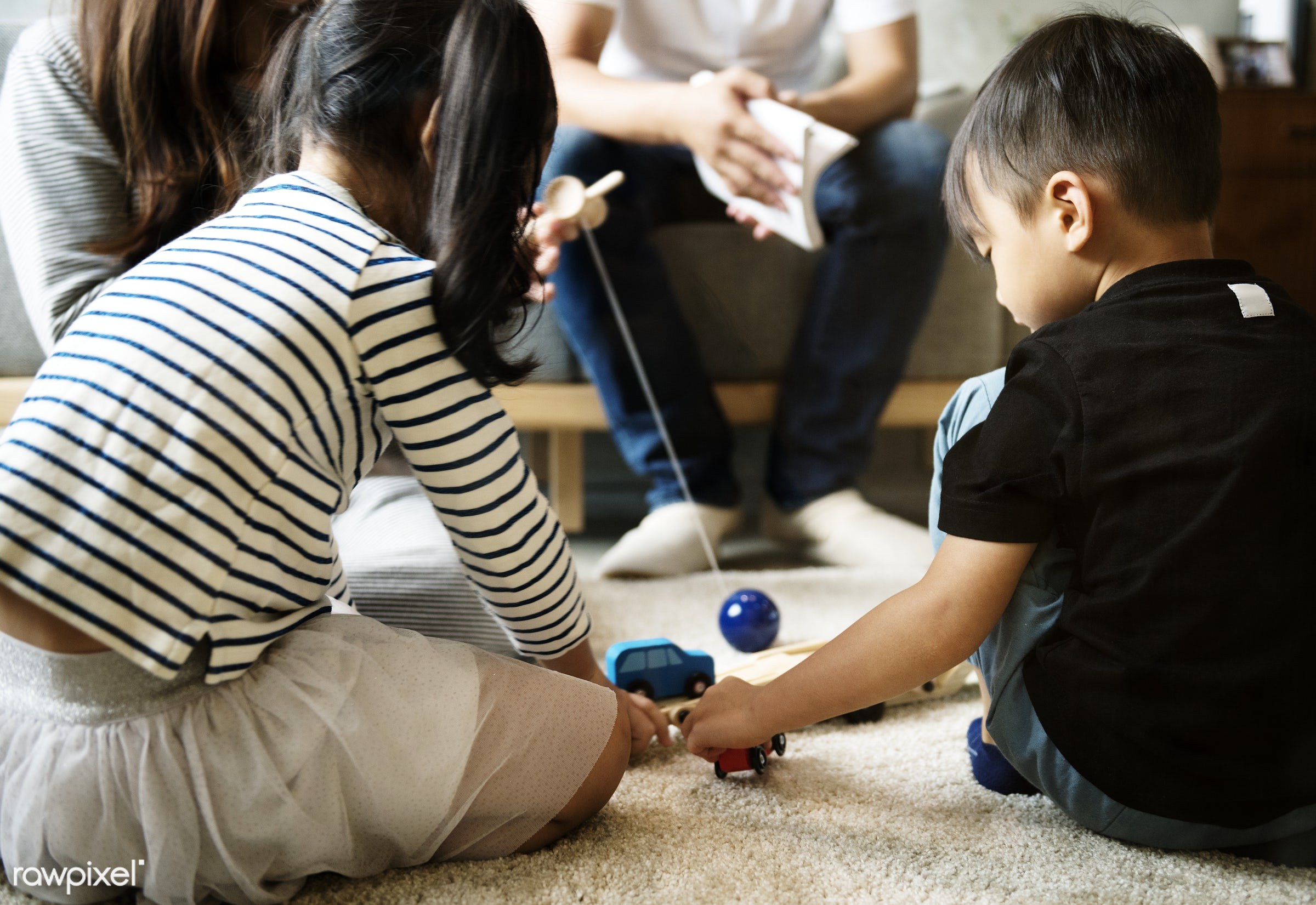 Japanese children playing - toy, adorable, asia, asian, brother, casual, childhood, children, family, hobby, innocence,...