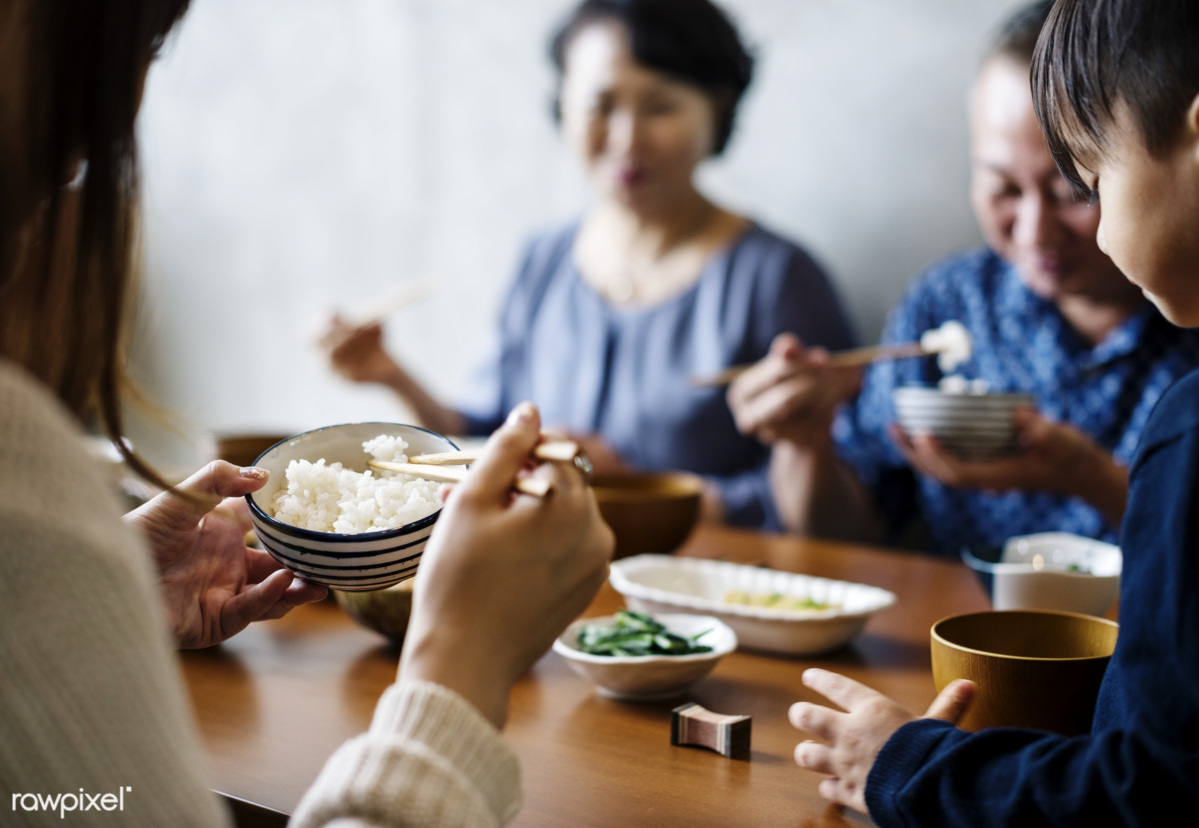 Japanese family eating - japanese, family, dinner, dining, asia, asian, bonding, china, chinese, culture, eating, food,...