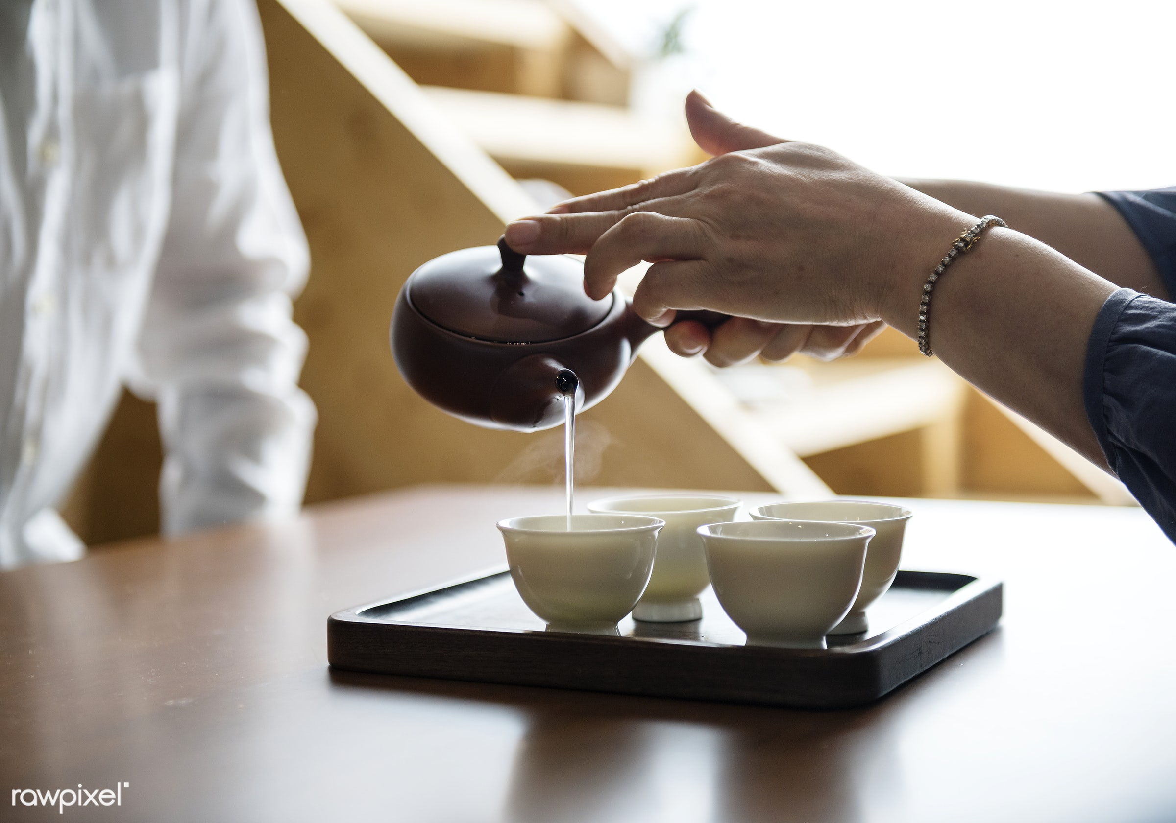 Pouring sake - japan, tea, asia, asian, ceremony, culture, drinking, family, formal, home, japanese, lifestyle, oriental,...
