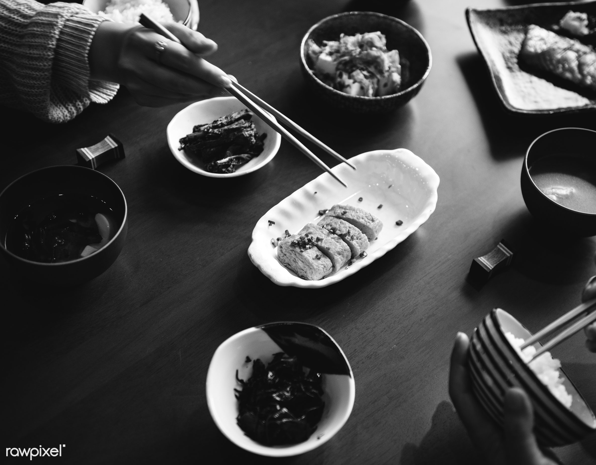 Japanese food - asia, asian, closeup, combination, cuisine, culture, delicious, dinner, eating, food, fresh, gourmet,...