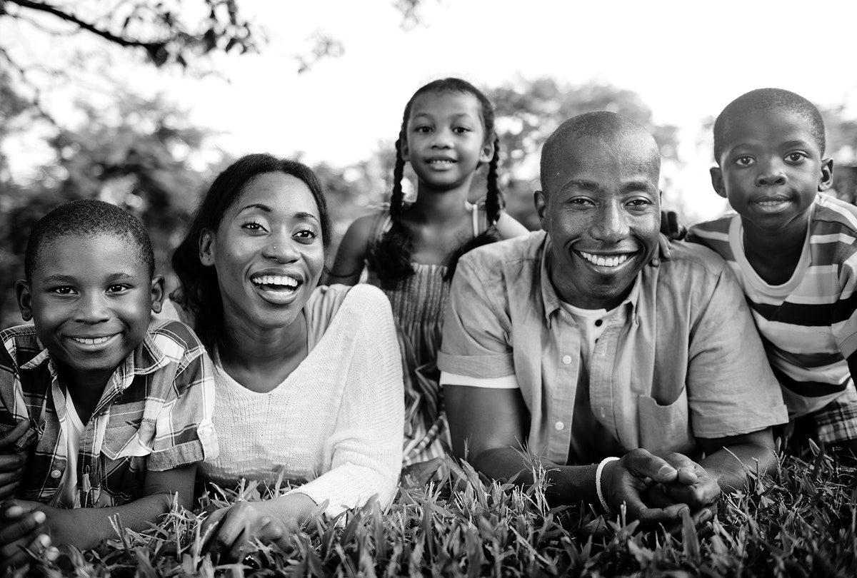 African American family enjoying quality time outdoors