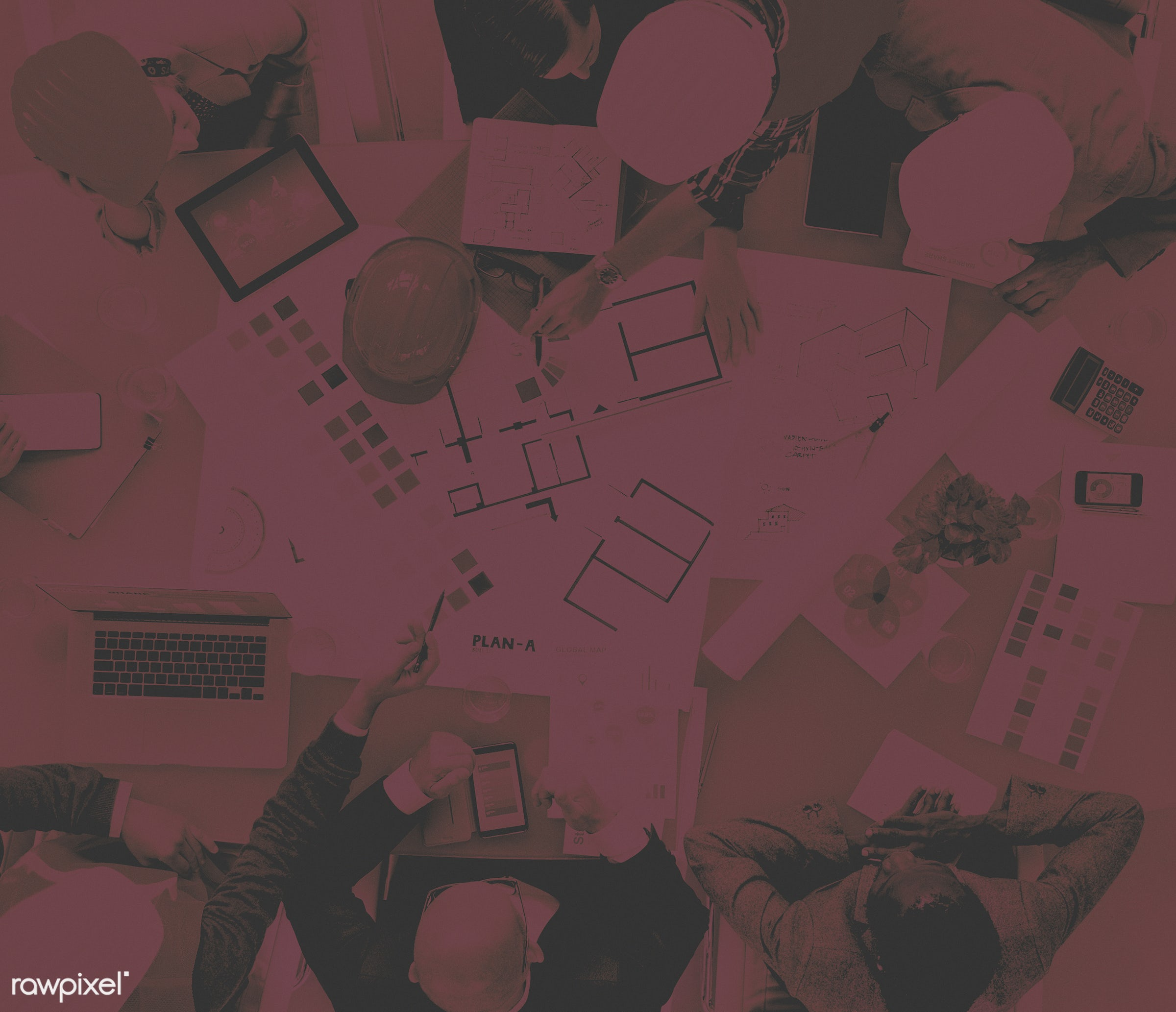aerial view, african descent, architect, asian ethnicity, blueprint, brainstorm, brainstorming, business, business people,...
