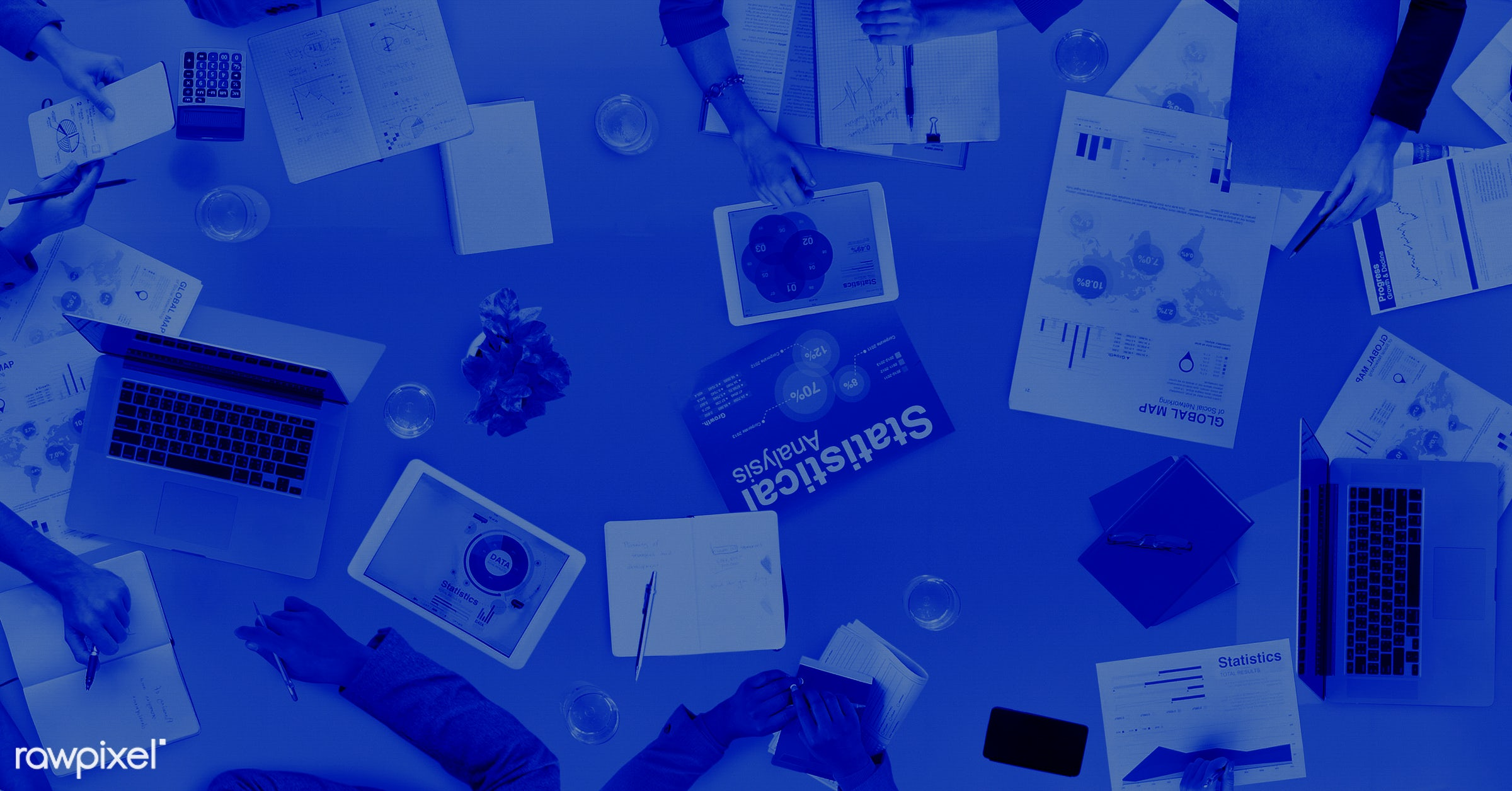 aerial view, analyzing, blue, brainstorming, business, business issues, business people, business person, businessmen,...