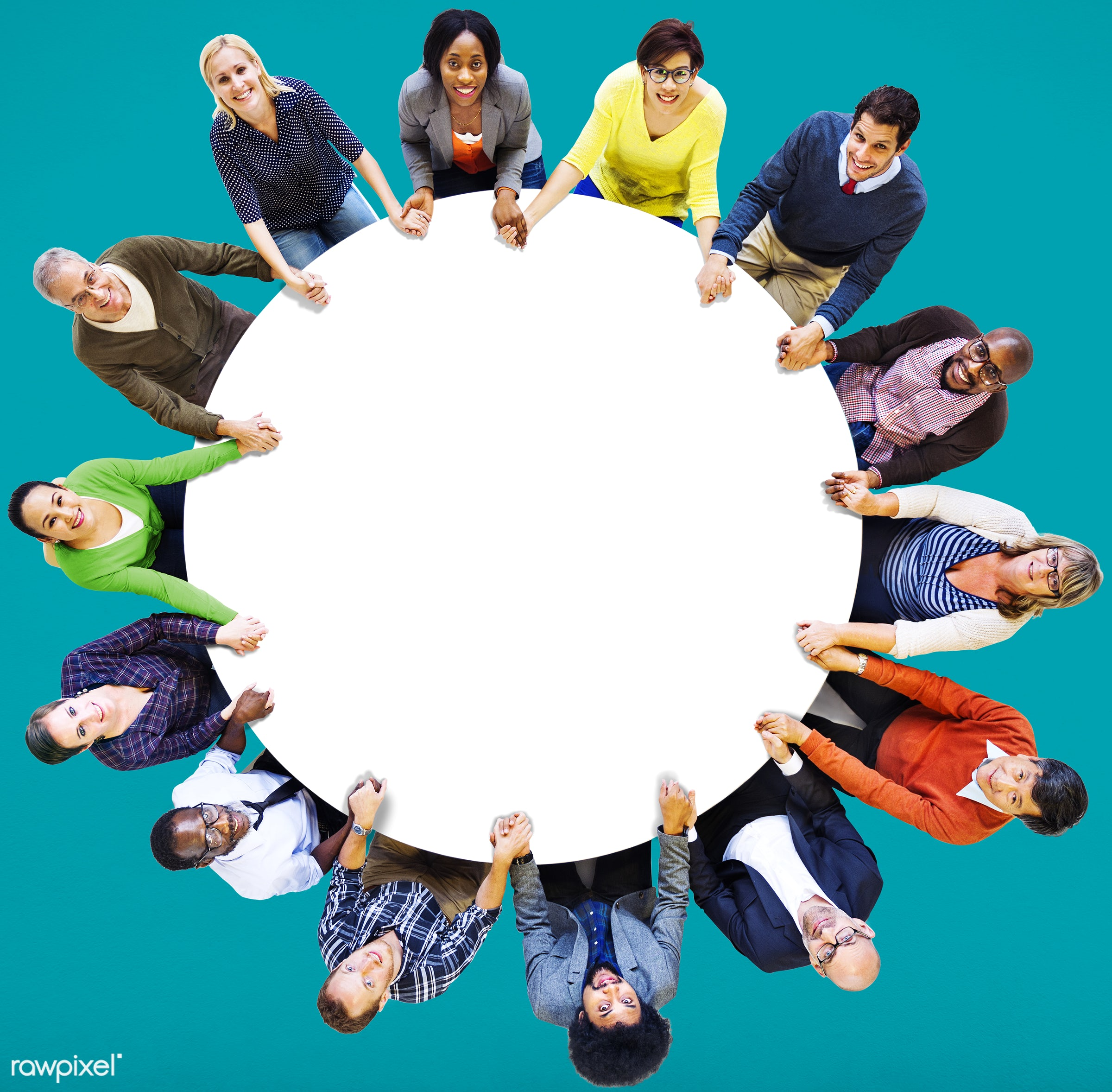 aerial view, african descent, asian ethnicity, blue, casual, cheerful, colourful, communication, community, connection,...