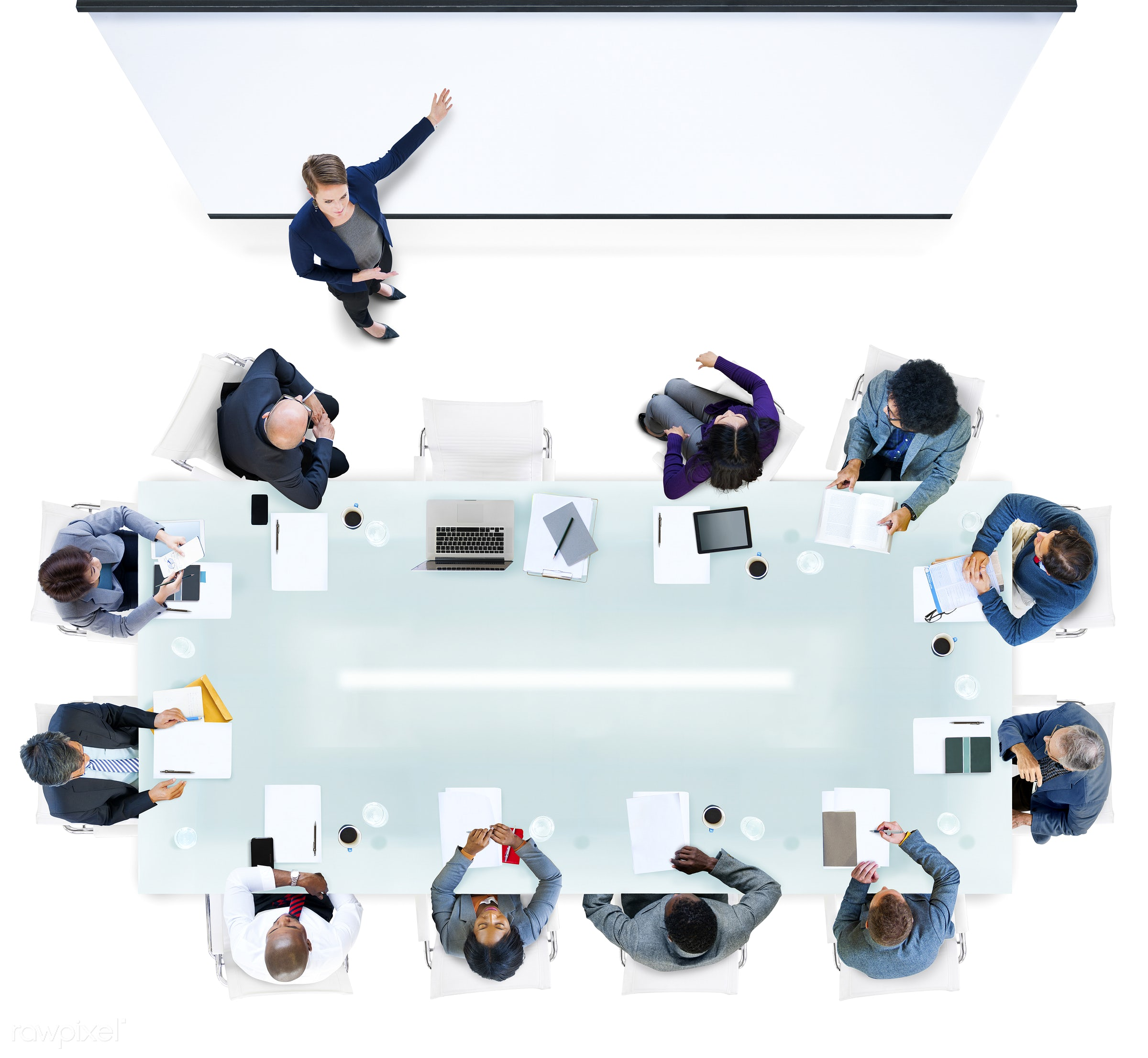 aerial view, african descent, asian ethnicity, audience, blank, brainstorming, business, business people, businessmen,...