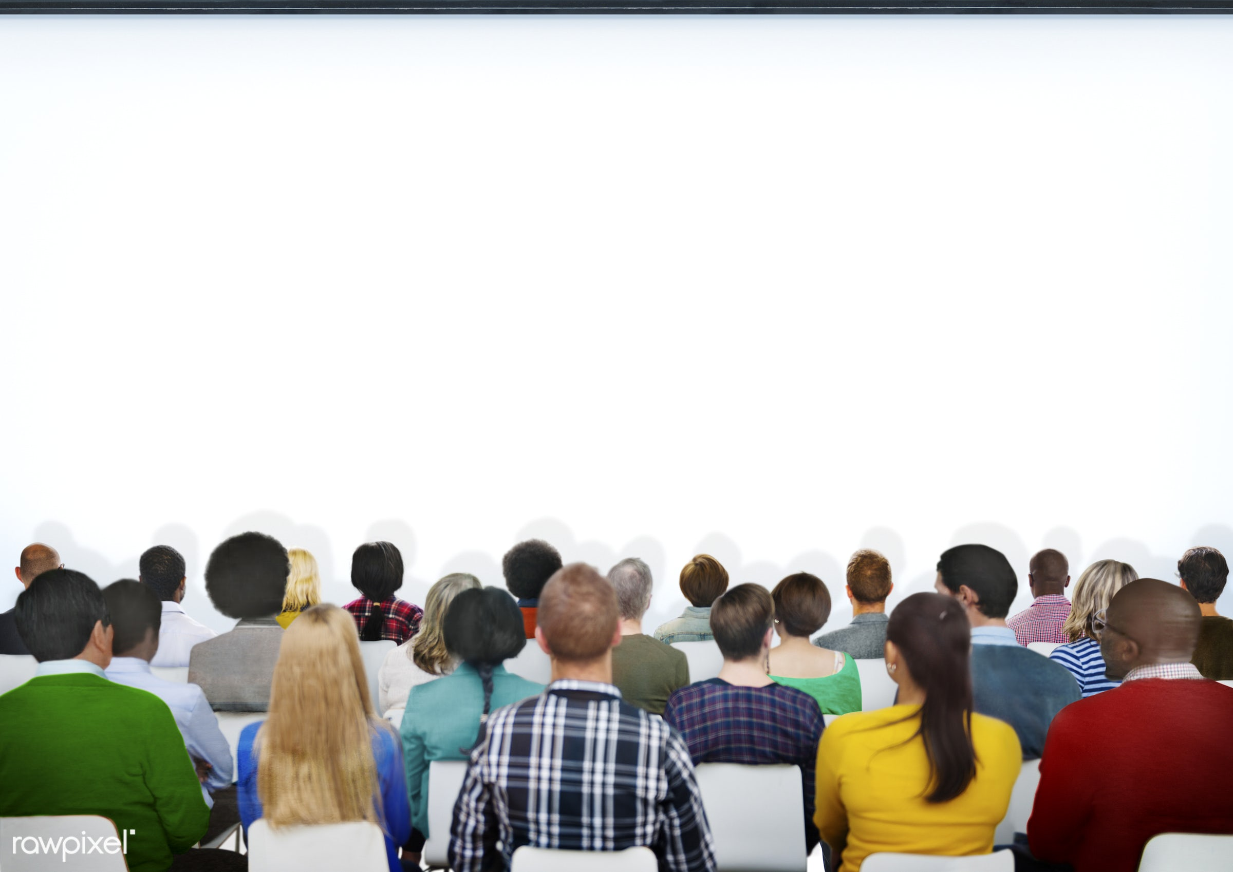 projection screen, white, adult, african, african descent, asian, asian ethnicity, audience, casual, communication,...