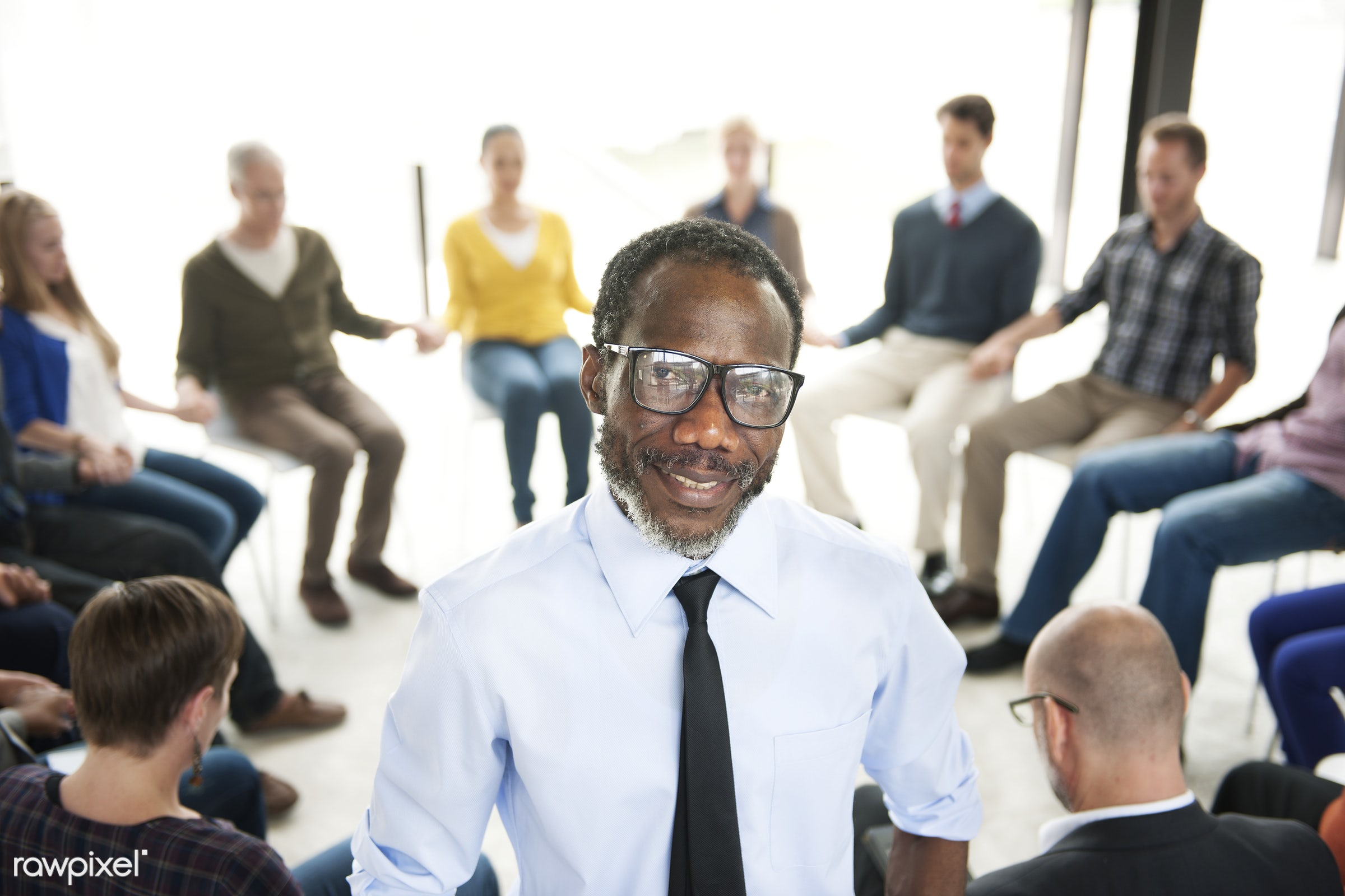 Group of diverse people having a business meeting - adult, african american, african descent, architecture, black, business...