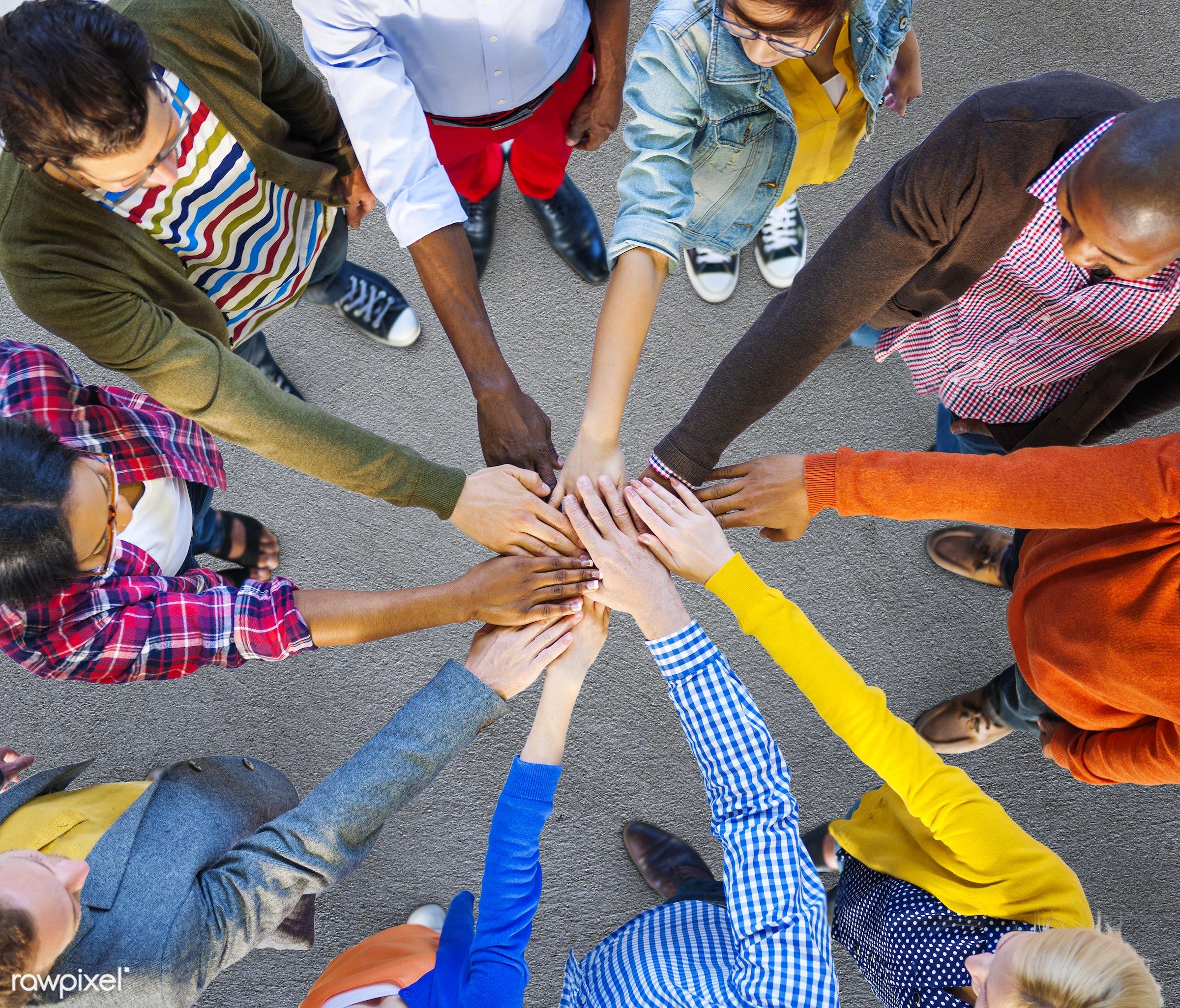 african descent, asian ethnicity, assistance, casual, circle, collaboration, colourful, communication, community, concrete...