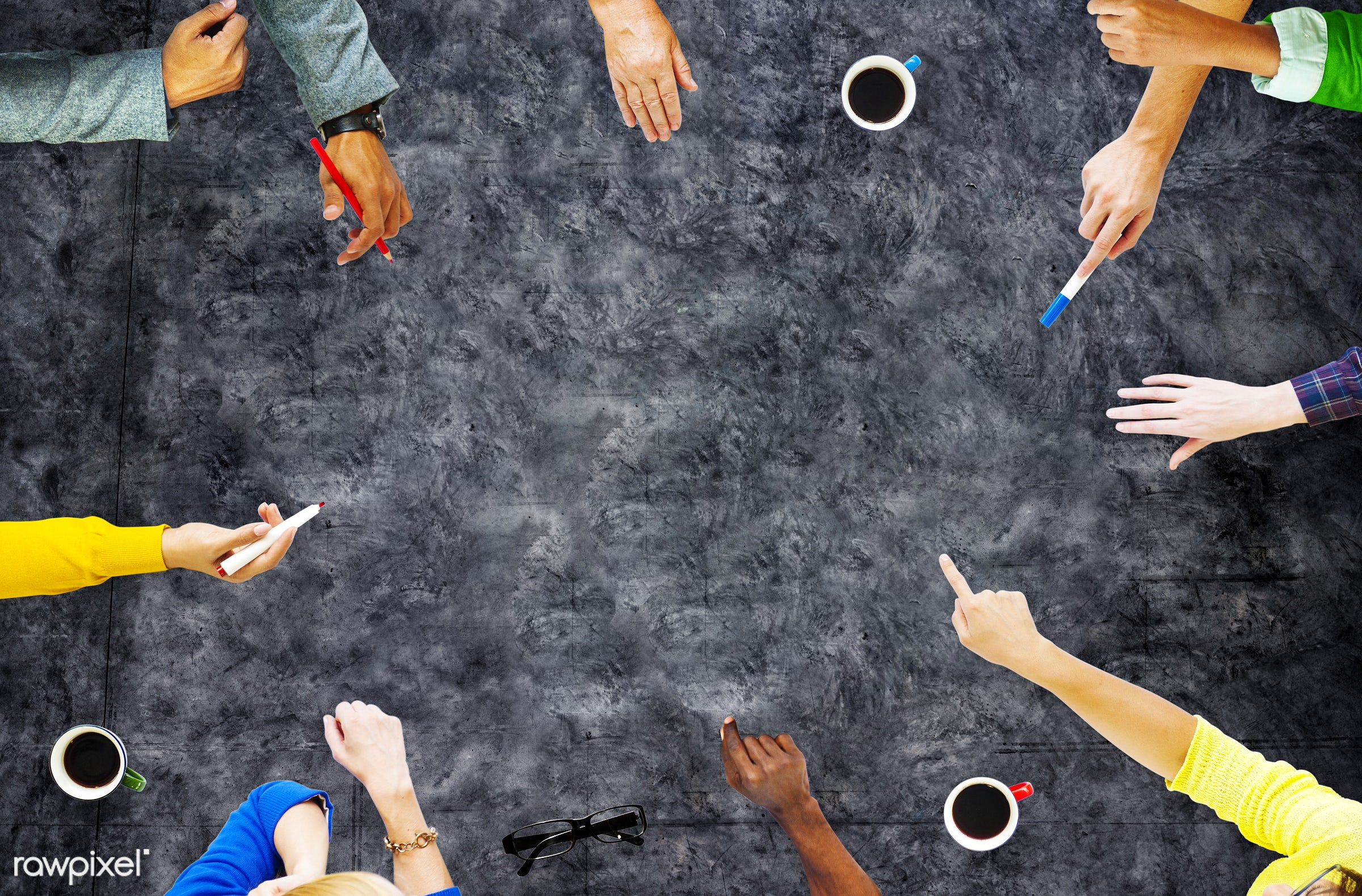 aerial view, african descent, asian ethnicity, blank, brainstorming, casual, classroom, college, colorful, communication,...