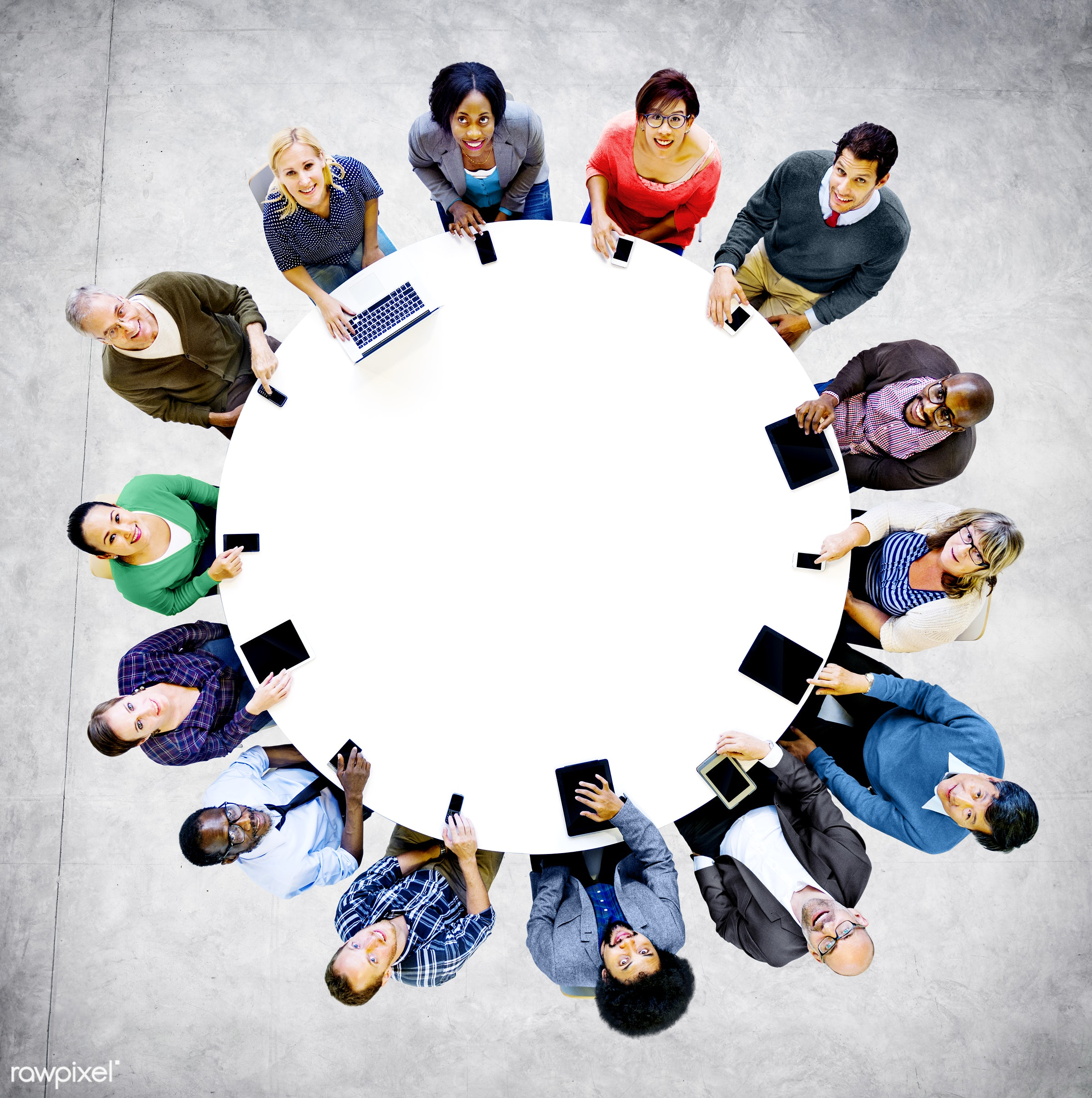 aerial view, african descent, asian ethnicity, blank, cheerful, colorful, communication, community, concrete, concrete floor...