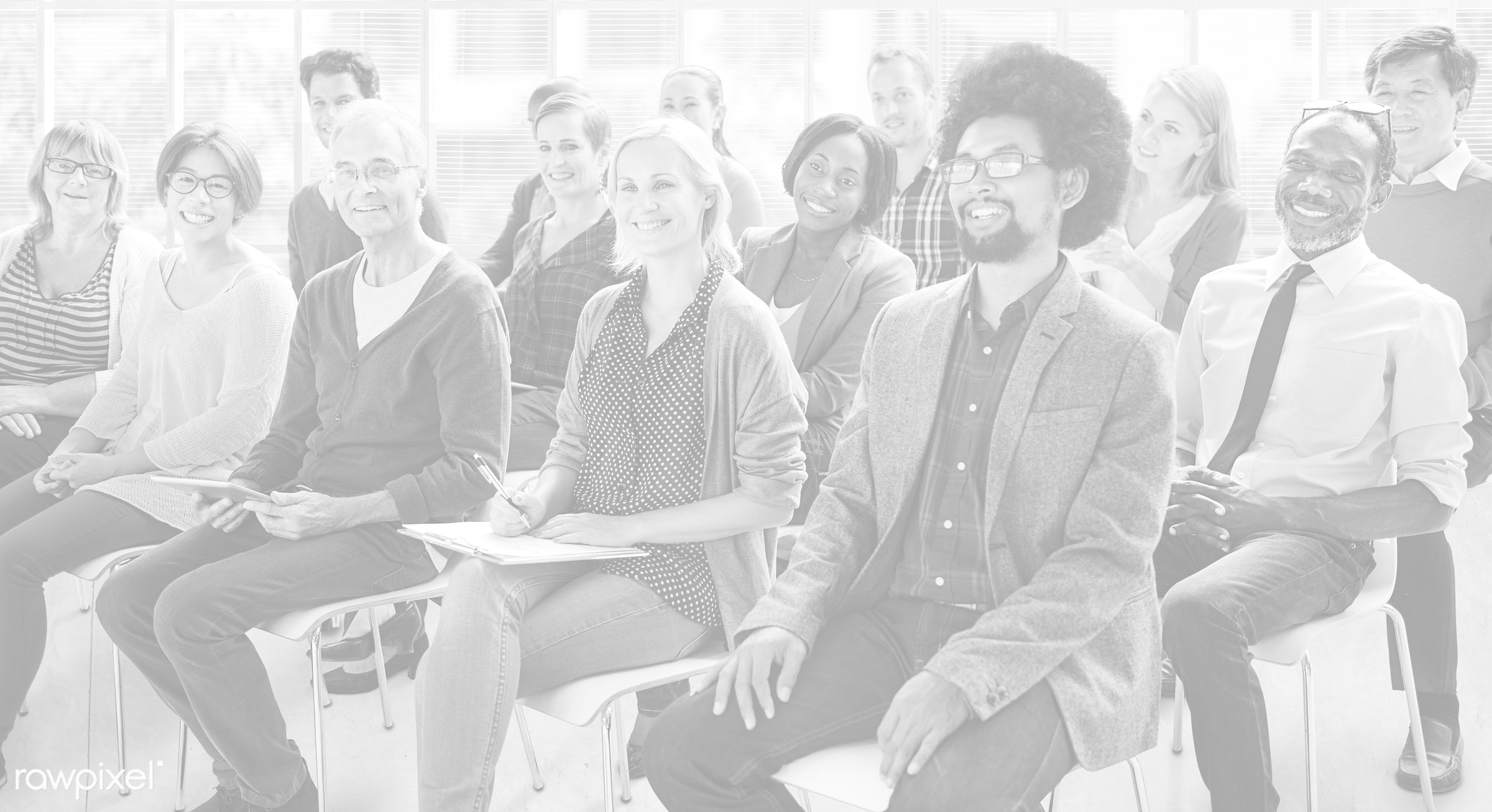 african descent, asian ethnicity, audience, casual, cheerful, classroom, conference, crowd, diverse, diversity, education,...