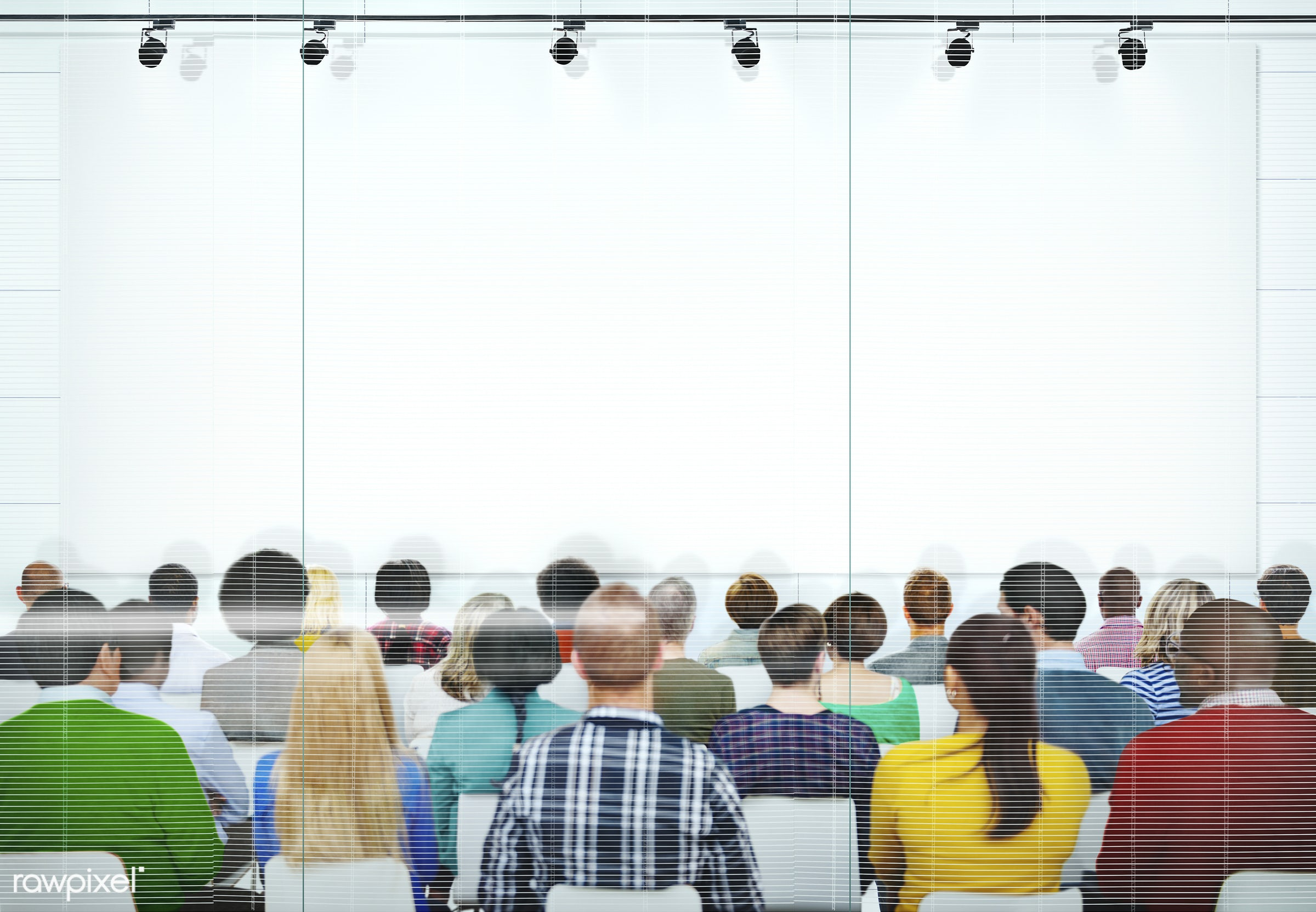 Group of diverse people in a seminar - african american, african descent, architecture, asian, black, caucasian, cheerful,...