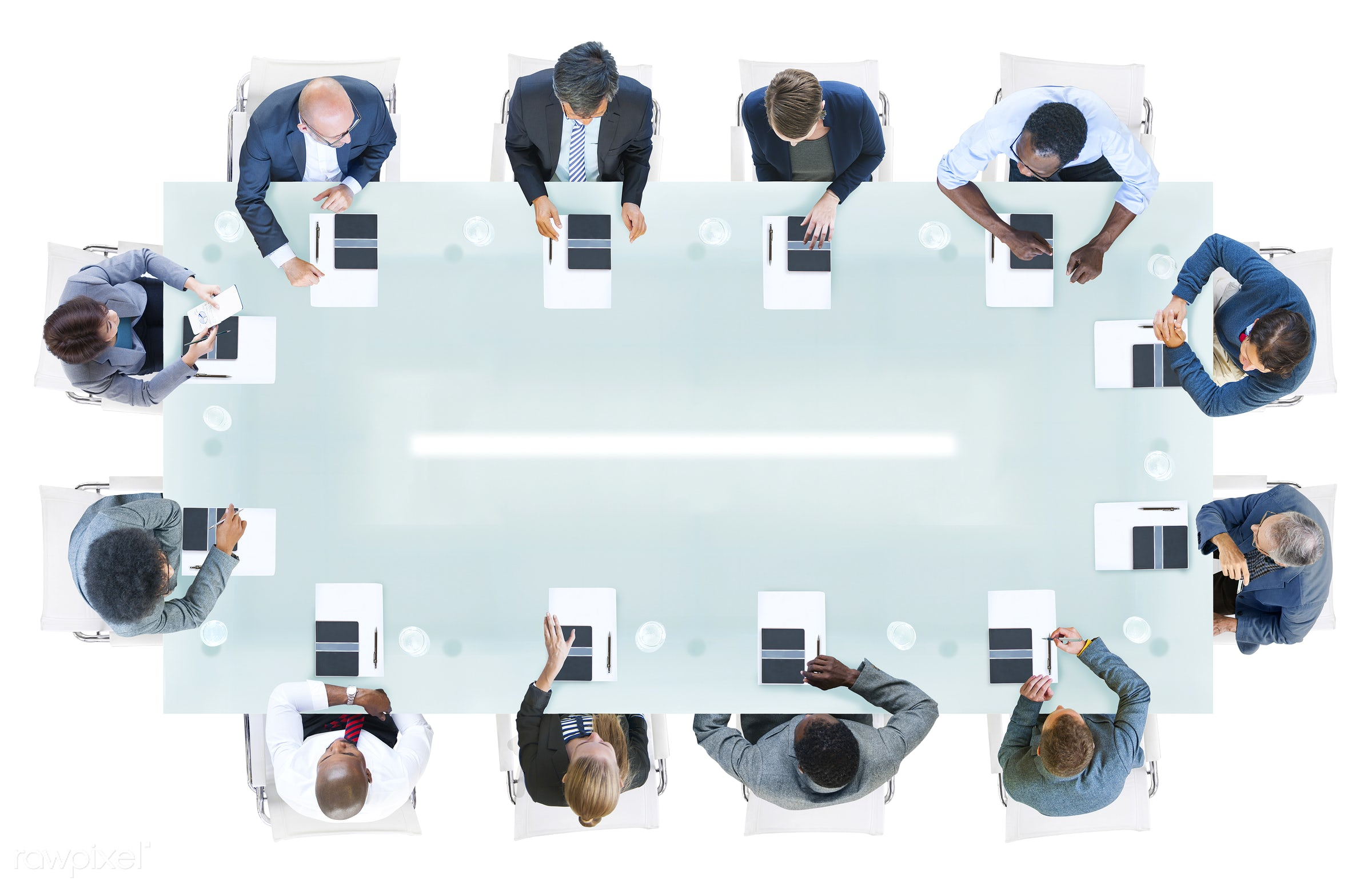 administration, aerial view, african descent, asian ethnicity, brainstorming, business, businessman, businesswoman,...