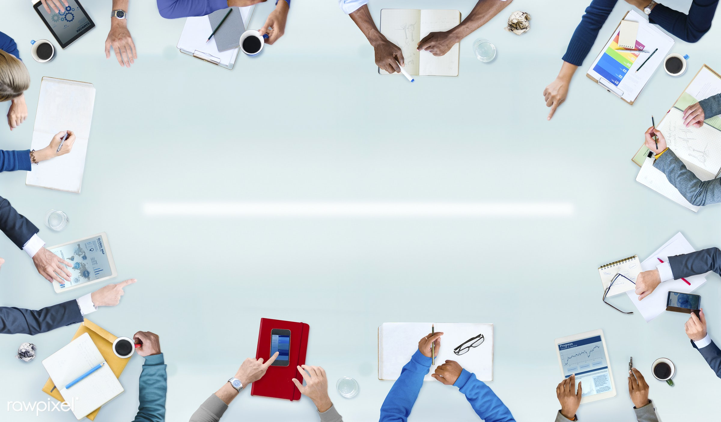 administration, aerial view, african descent, analysis, arms, asian ethnicity, brainstorming, business, businessman,...