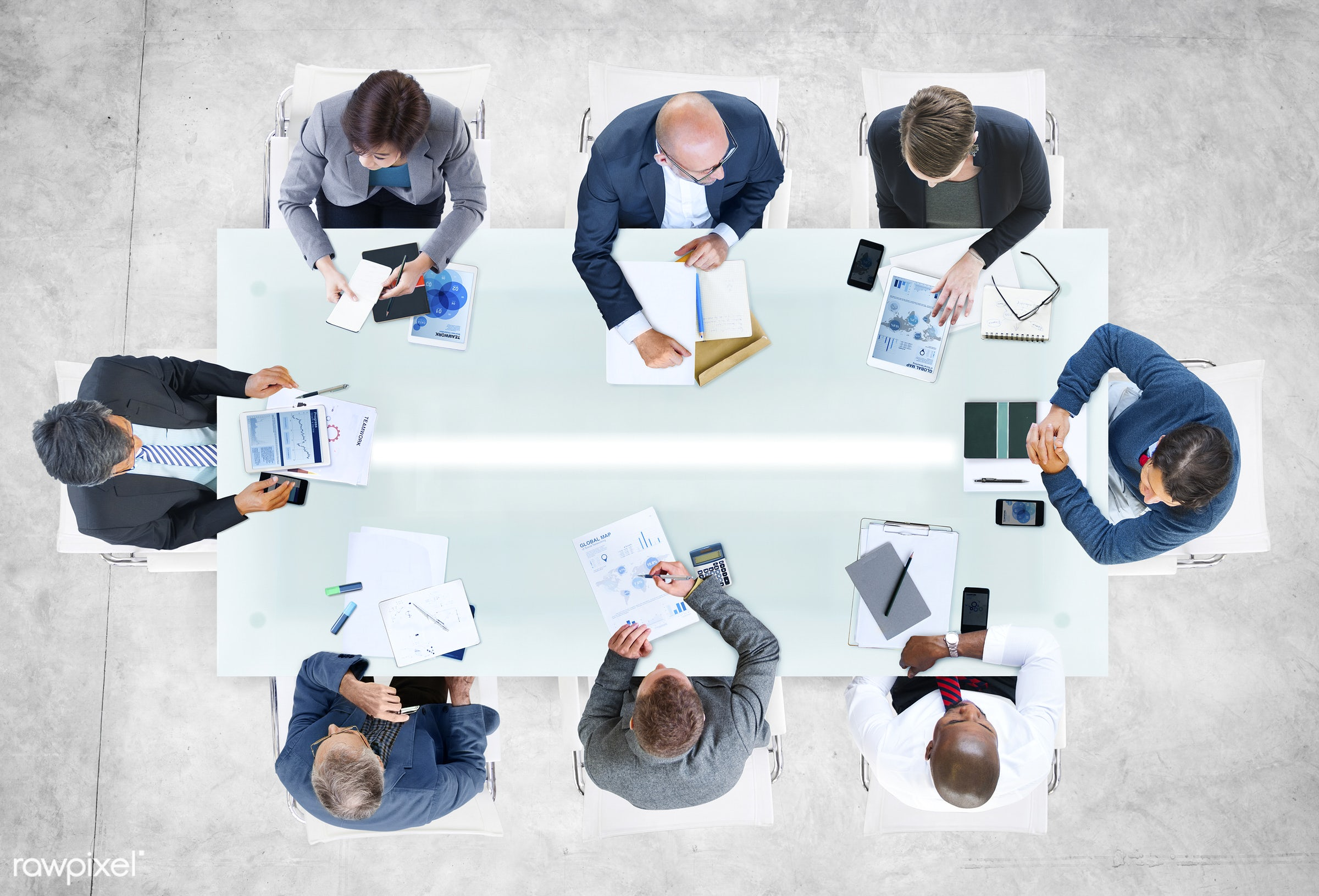 aerial view, african descent, asian ethnicity, brainstorming, business, business people, businessmen, businesswomen, cement...