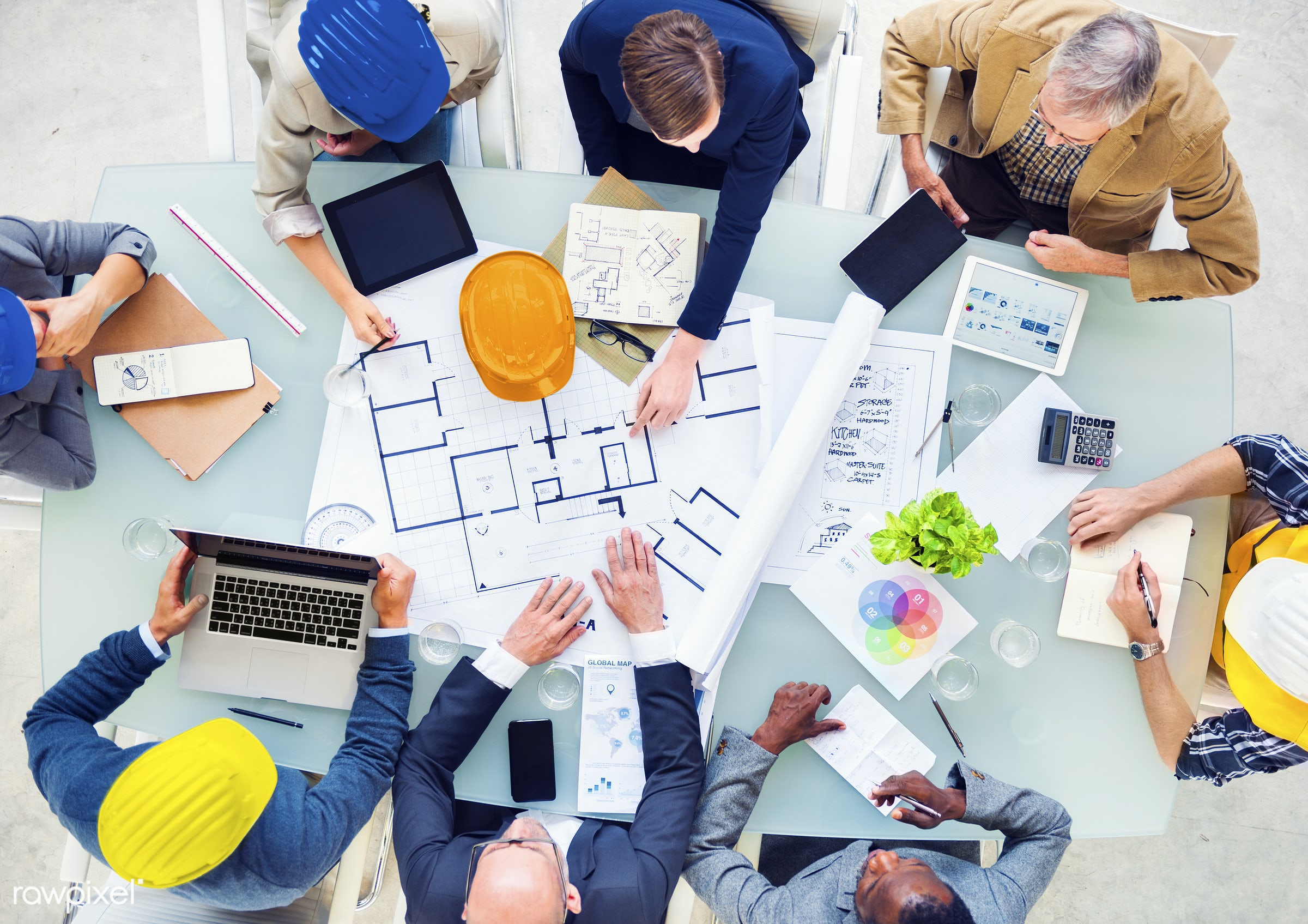 architect, architecture, blueprint, brainstorming, business, business meeting, businessmen, colleagues, communication,...