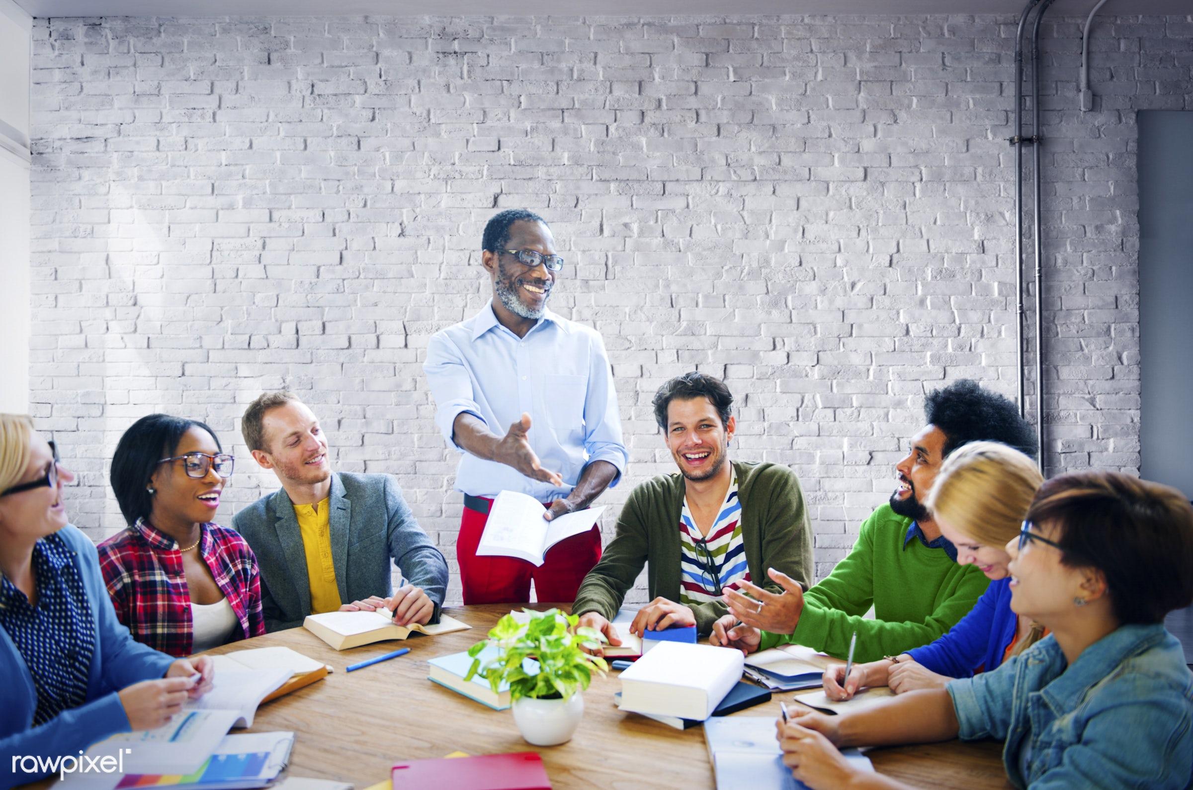 african, african descent, asian, asian ethnicity, brickwall, business, business people, businessman, businessmen,...