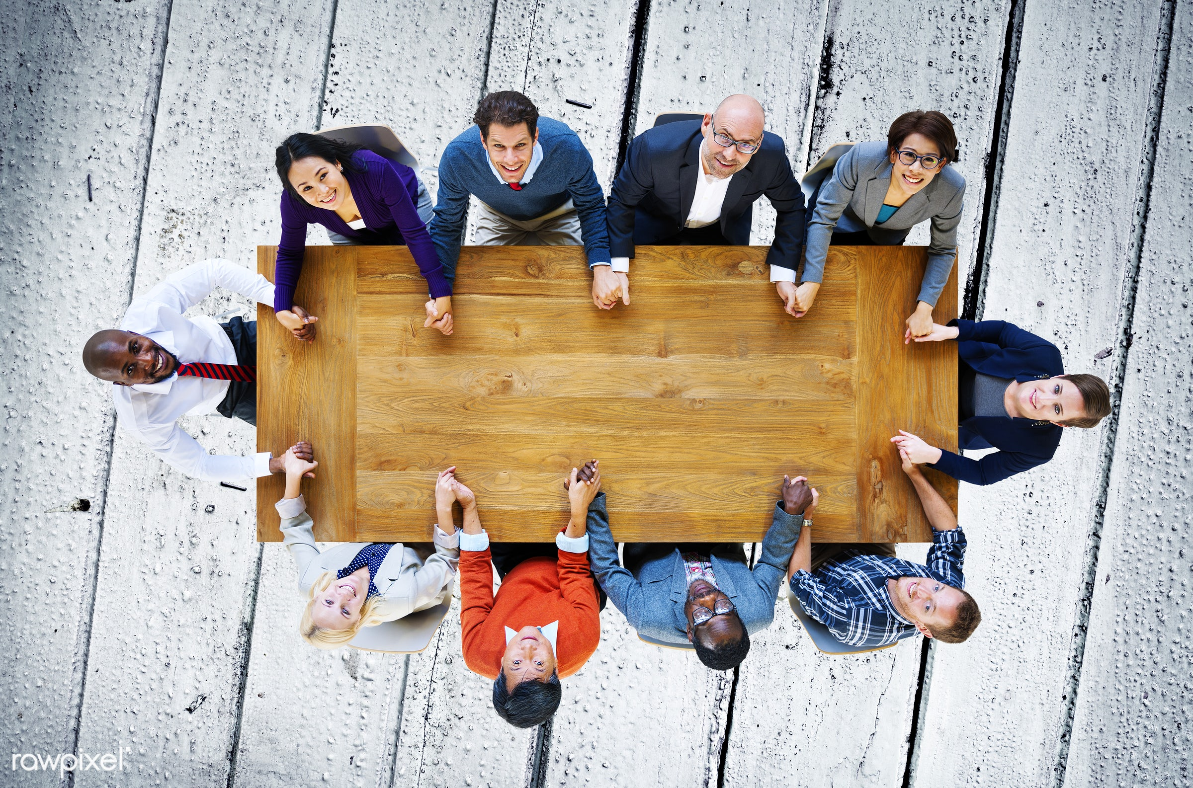 aerial view, african descent, asian ethnicity, blue, business, business people, businessmen, businesswomen, cheerful,...