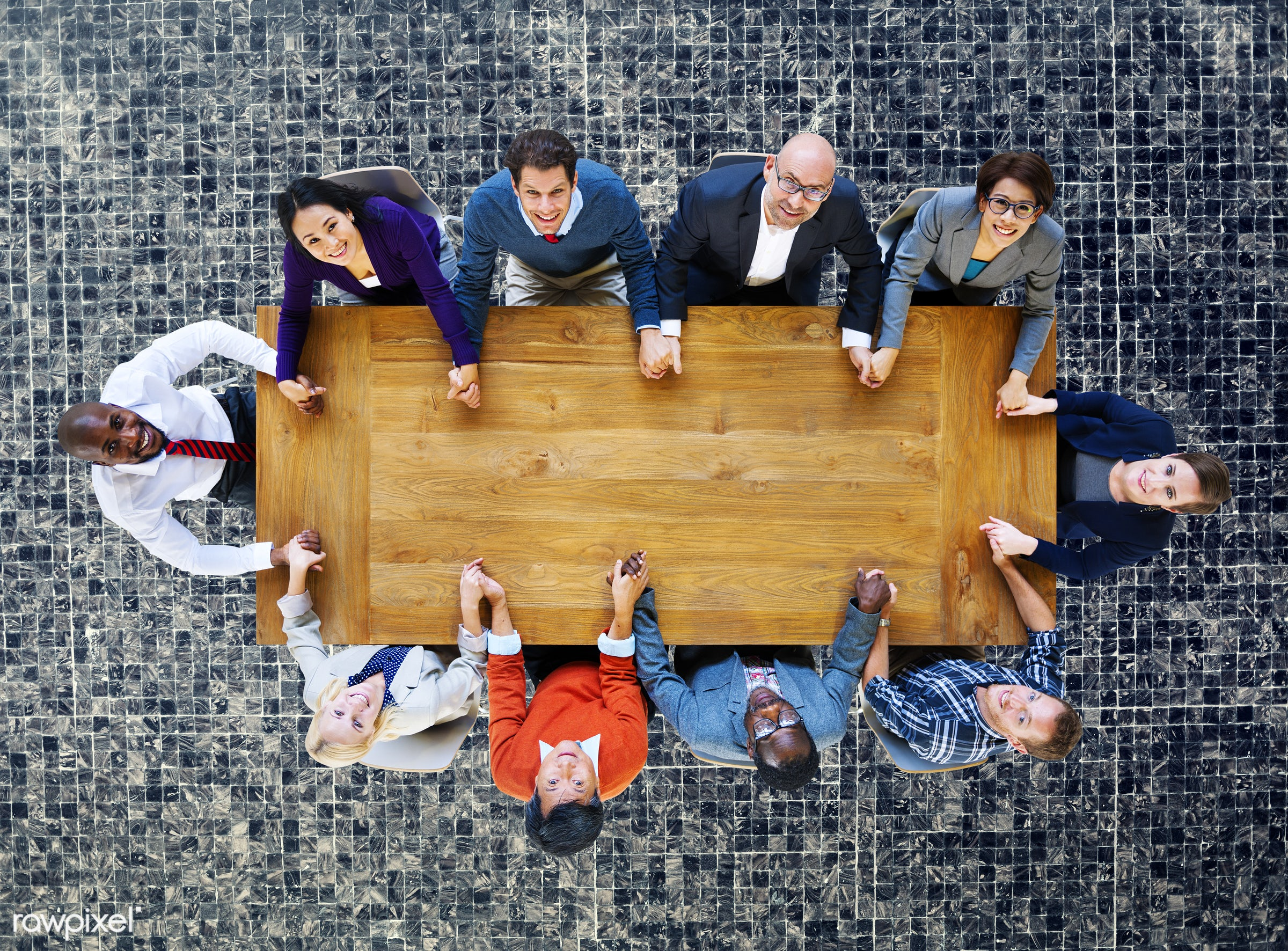 aerial view, african descent, asian ethnicity, business, business people, businessmen, businesswomen, ceramic, ceramic tile...