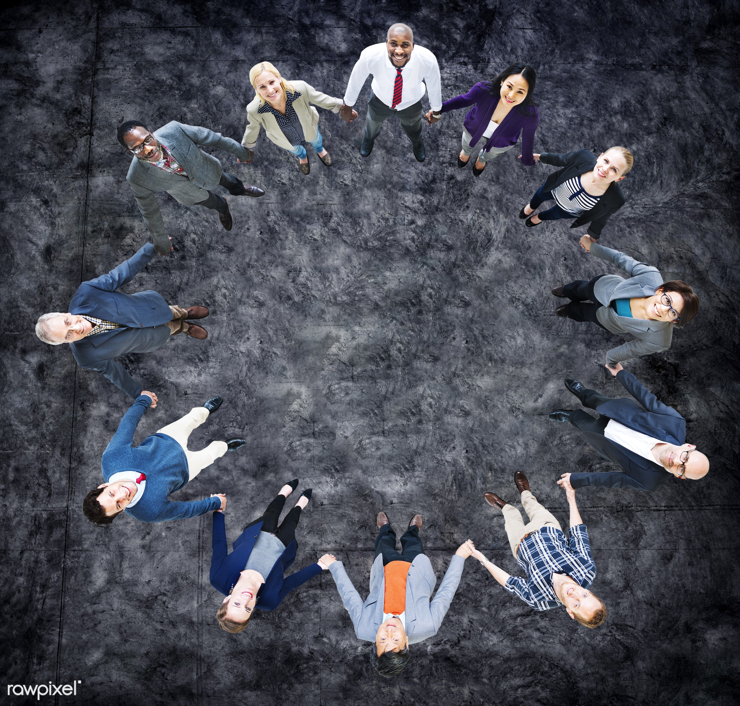 aerial view, african descent, asian ethnicity, blank, business, business people, businessmen, businesswomen, cheerful,...