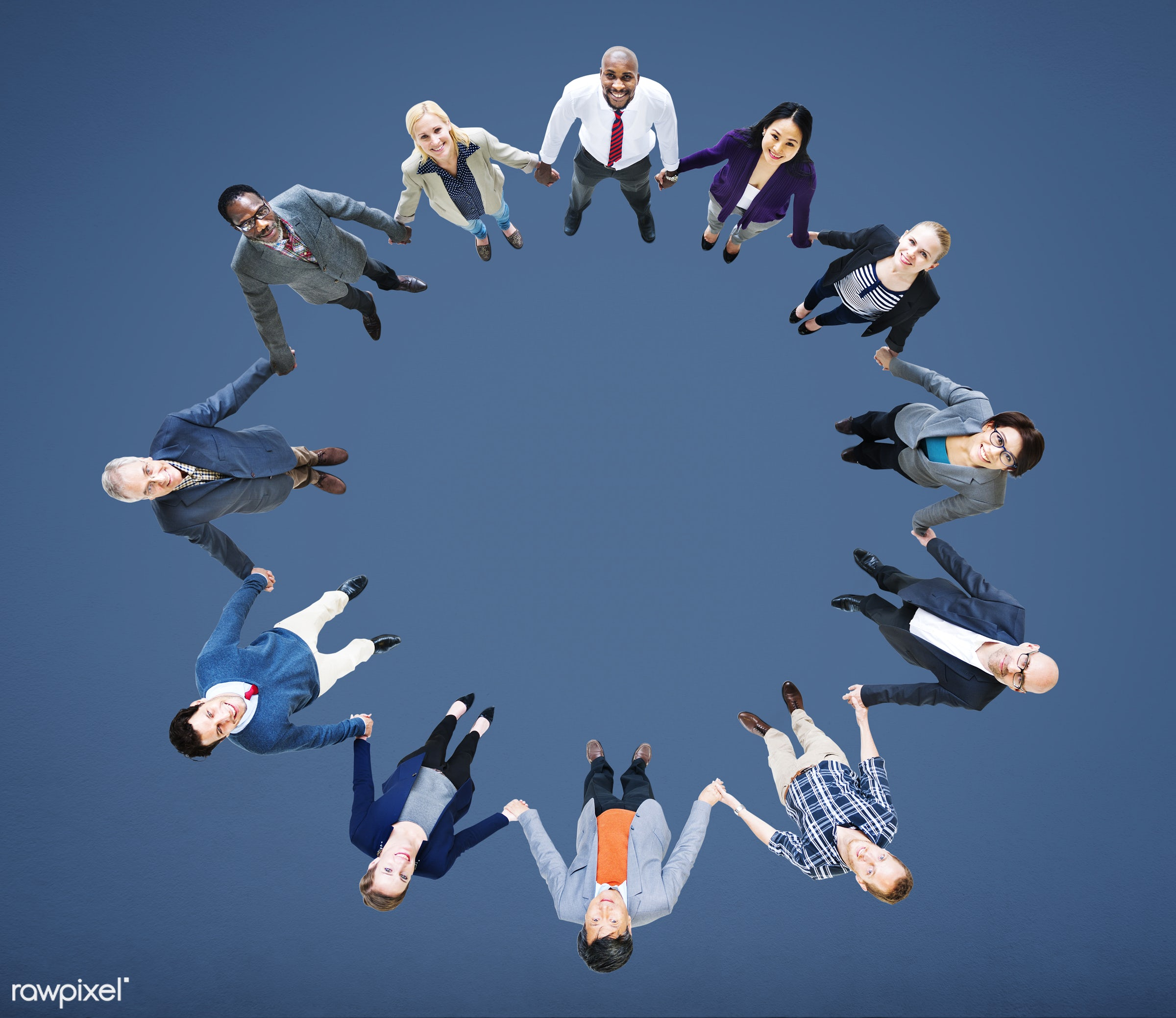 aerial view, african descent, asian ethnicity, blank, blue, business, business people, businessmen, businesswomen, cheerful...