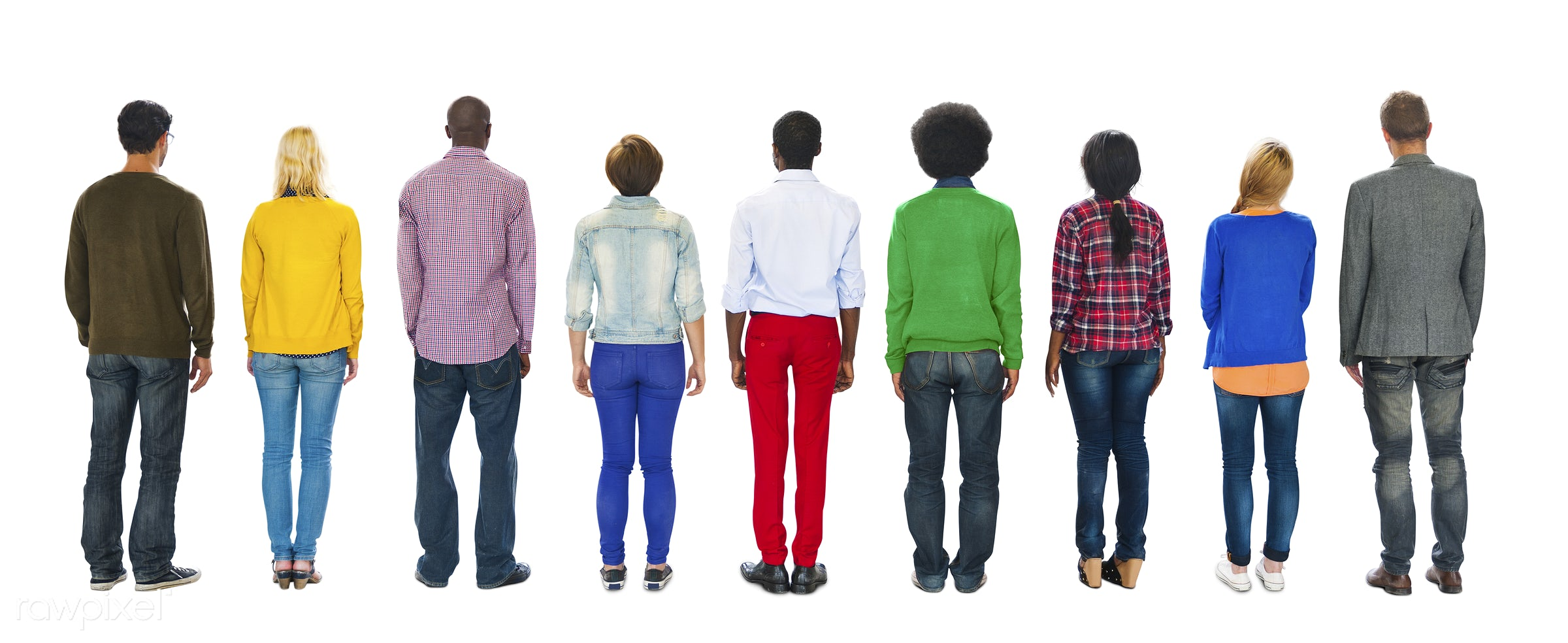 african, african descent, asian, asian ethnicity, back, back view, casual, colorful, community, diverse, diversity, ethnic,...