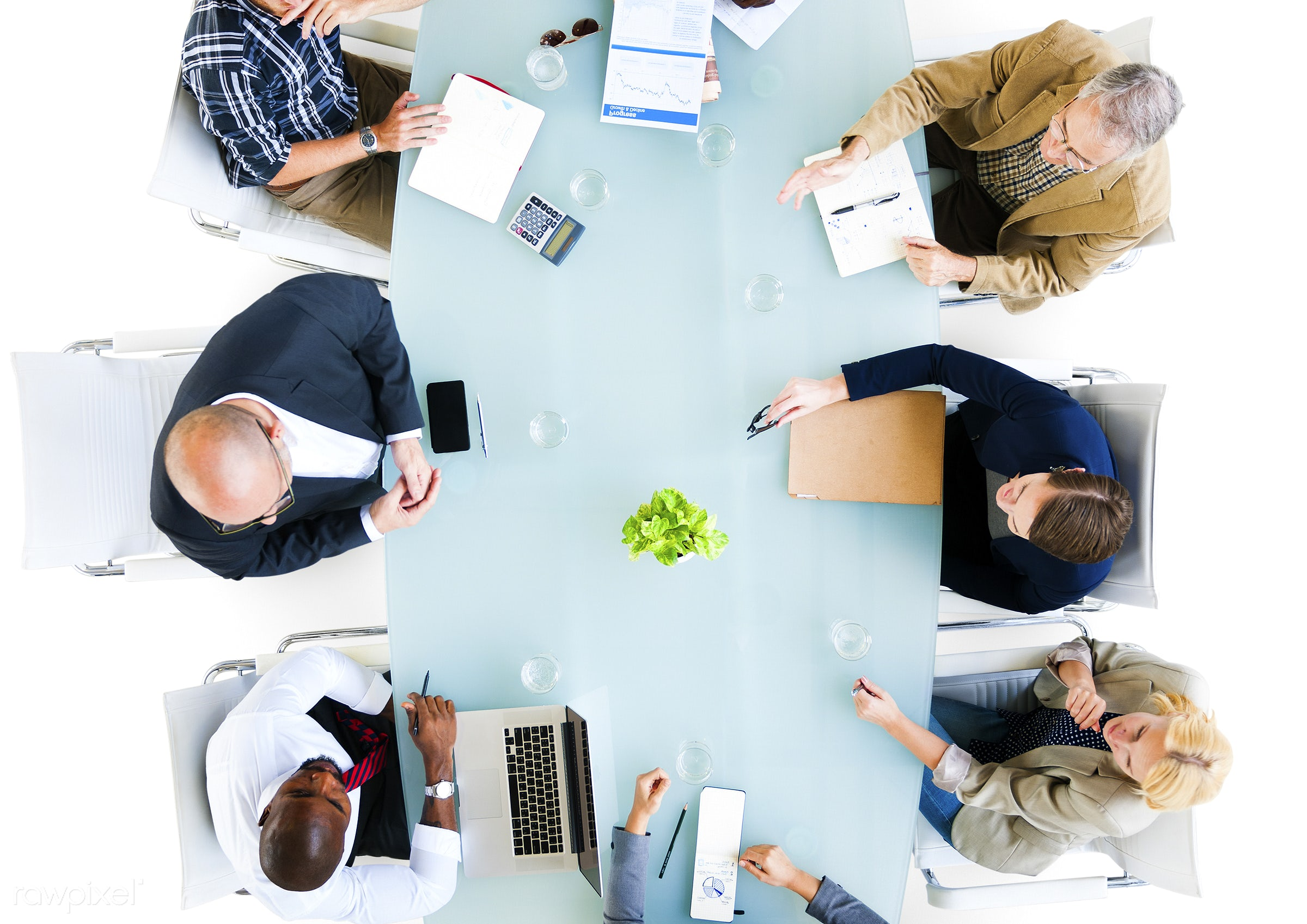 aerial view, african descent, african ethnicity, asian ethnicity, board room, brainstorming, business, business people,...