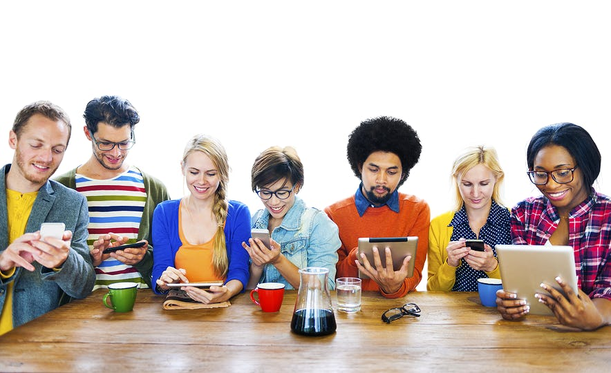 Study group of college students