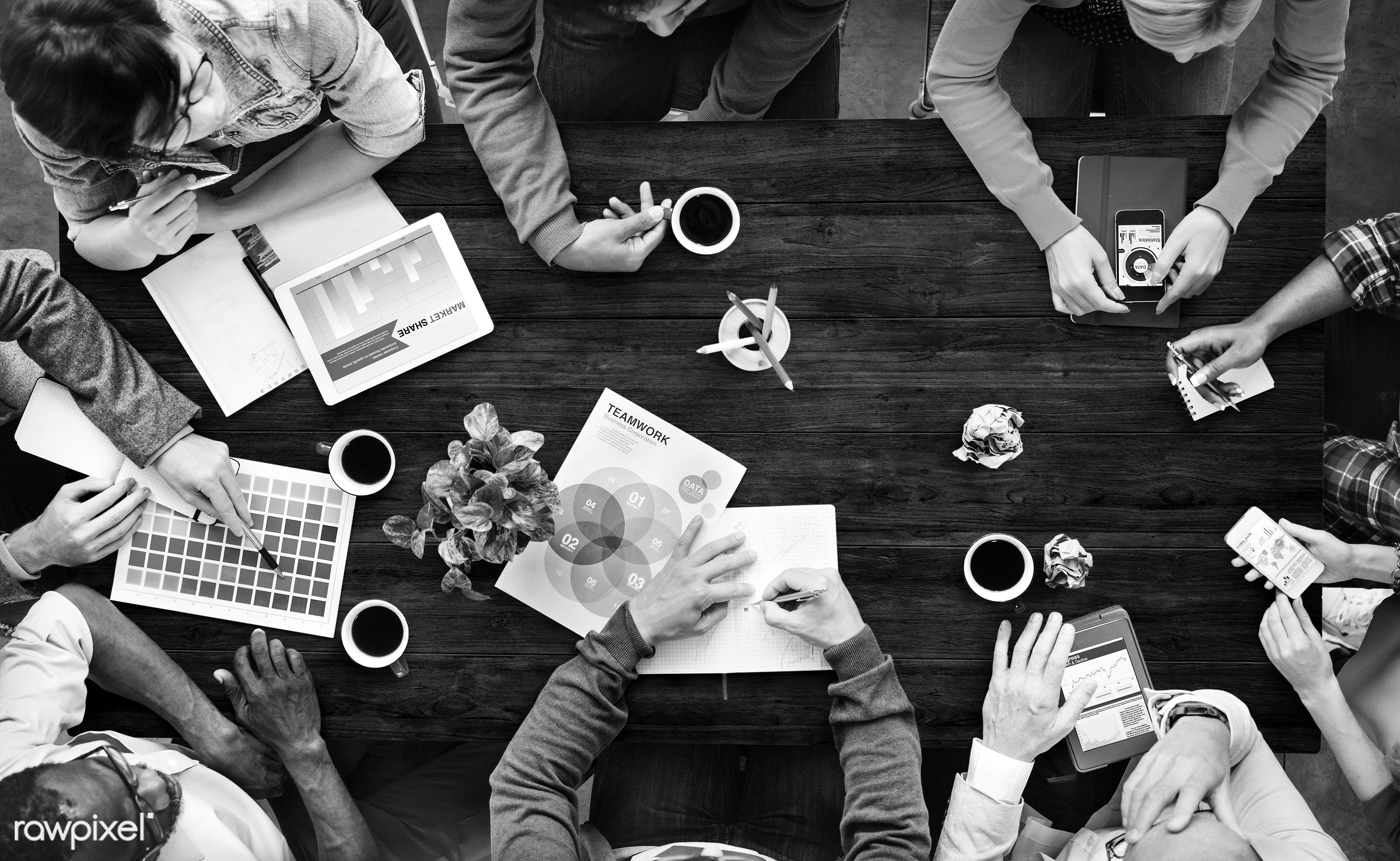 contemporary, aerial view, analysis, brainstorming, business, business people, businessman, businessmen, businesswoman,...