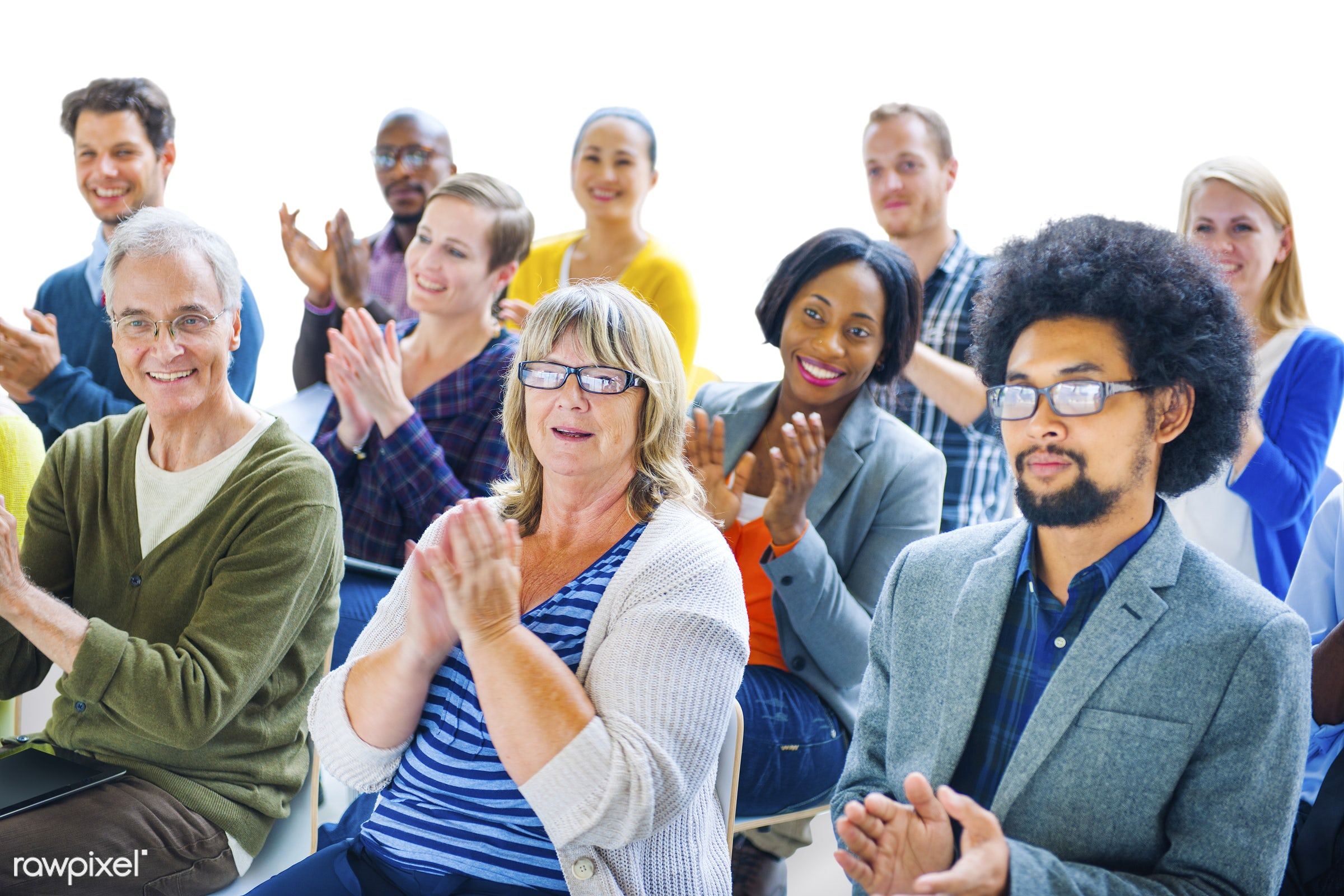 applauding, congratulating, achievement, african descent, applause, appreciation, asian ethnicity, audience, business people...
