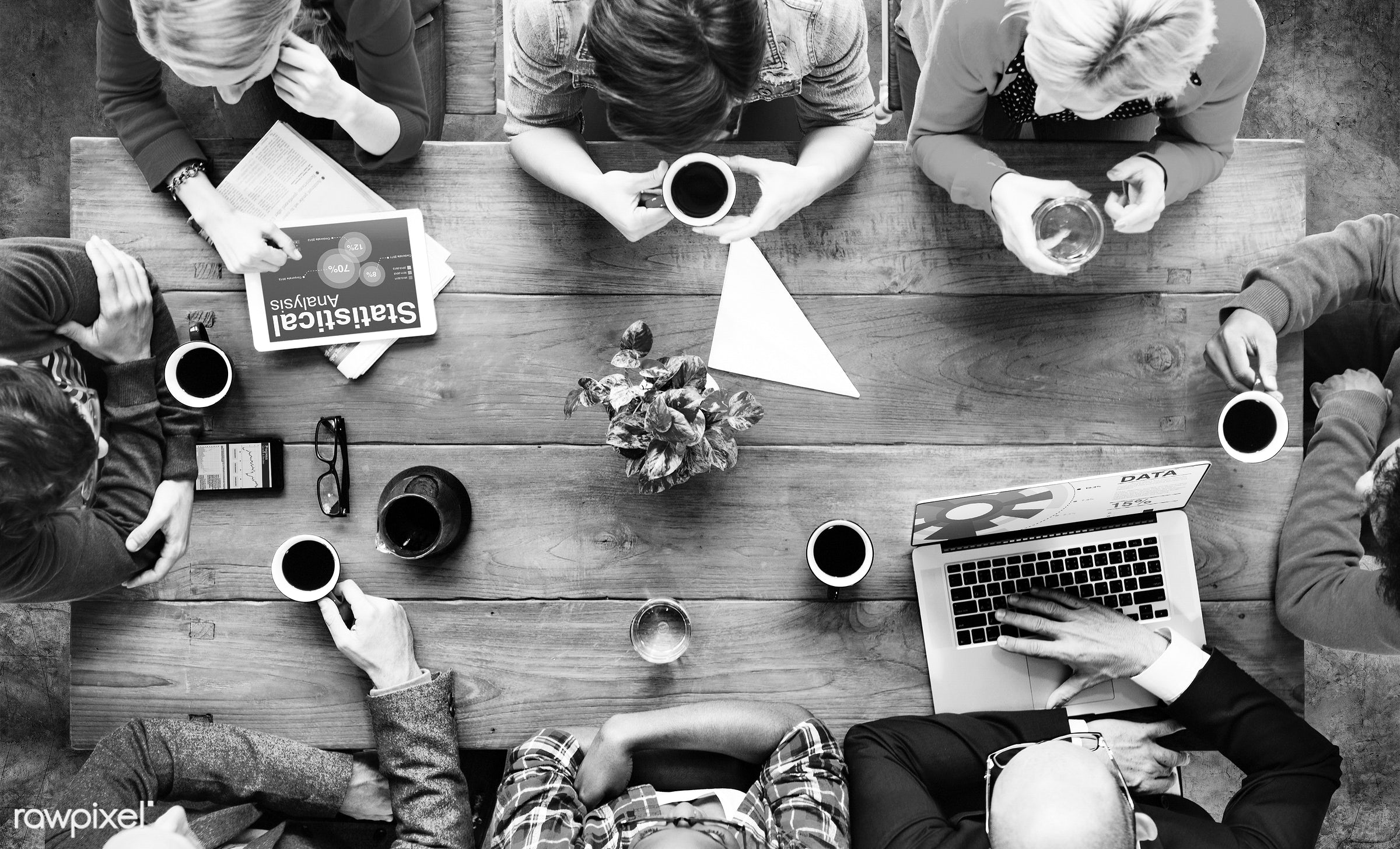 aerial view, board room, brainstorm, brainstorming, business, business people, business person, cafe, casual, coffee,...