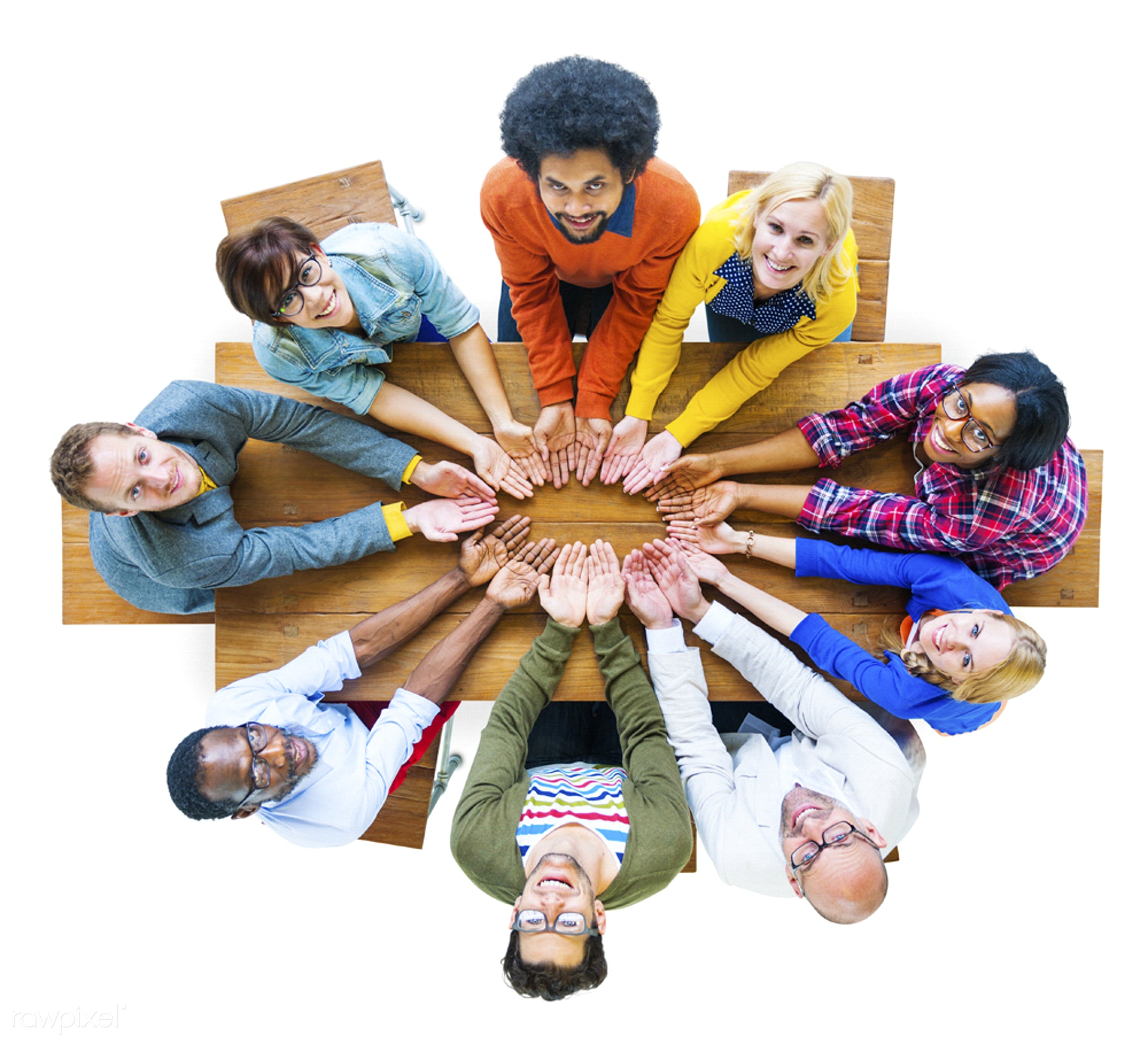 Group of diverse people  - african american, african descent, architecture, asian, black, caucasian, cheerful, diversity,...