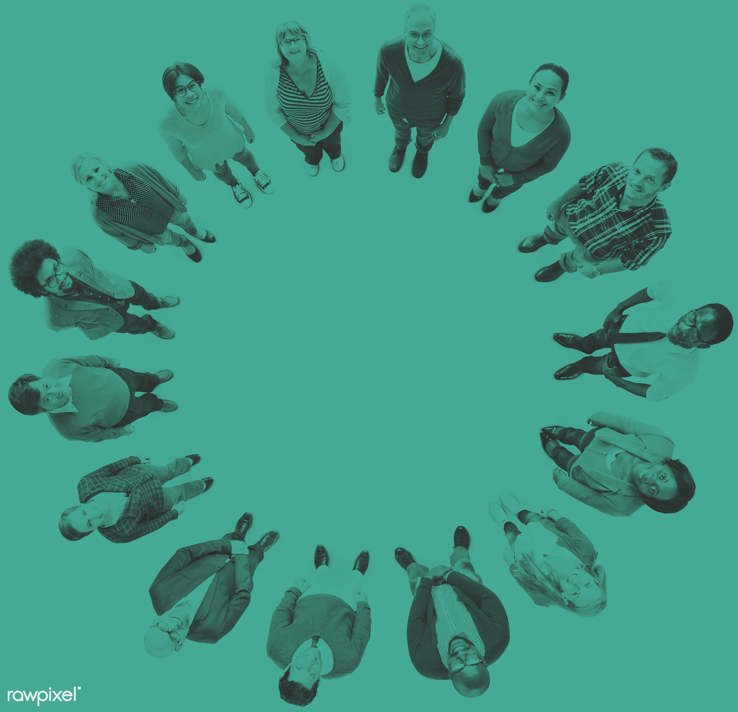 aerial view, african descent, asian ethnicity, blank, casual, circle, colorful, communication, community, connection, copy...