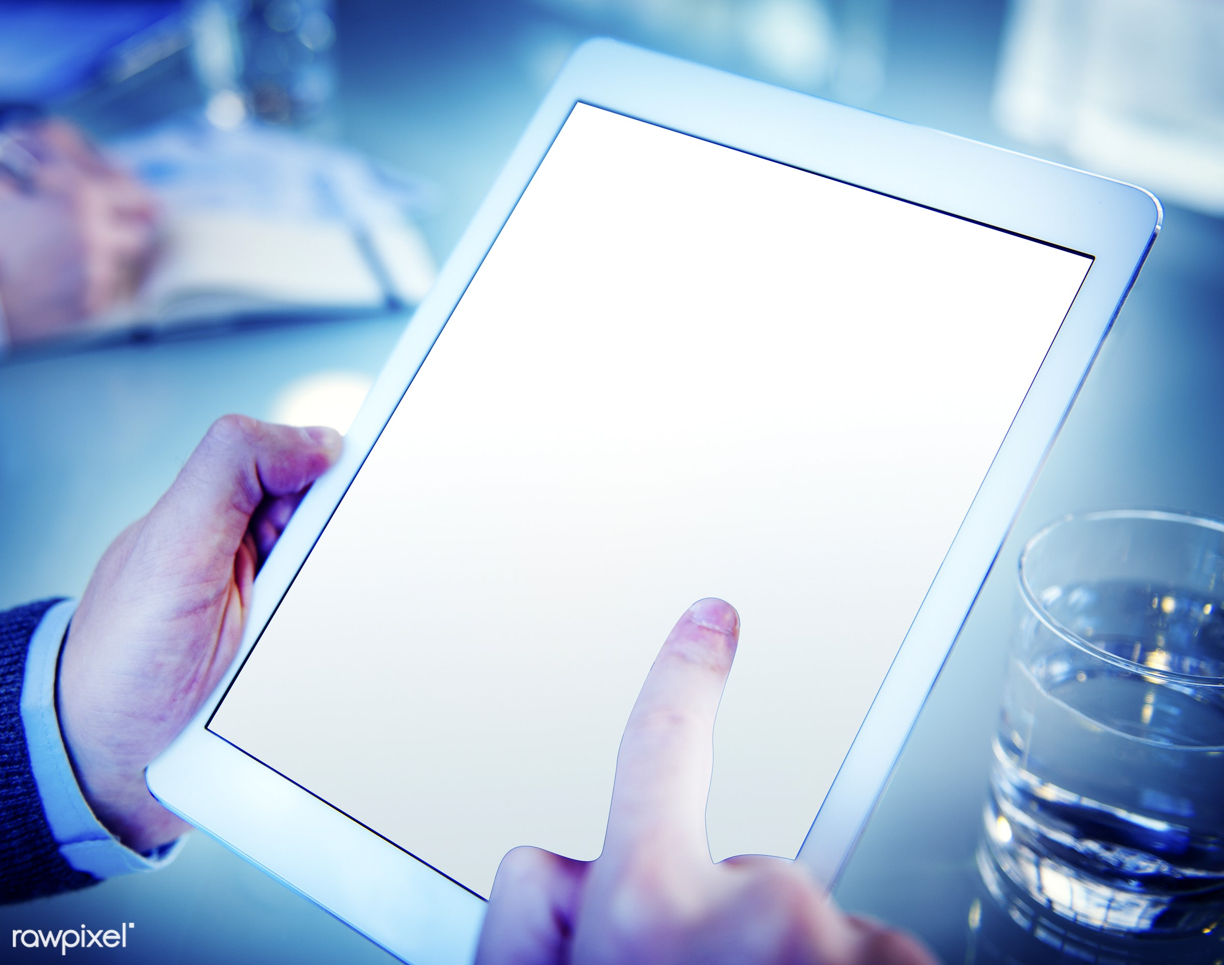 holding, touch screen, blank, bright, businessman, concepts, copy space, device, digital device, digital tablet, empty,...