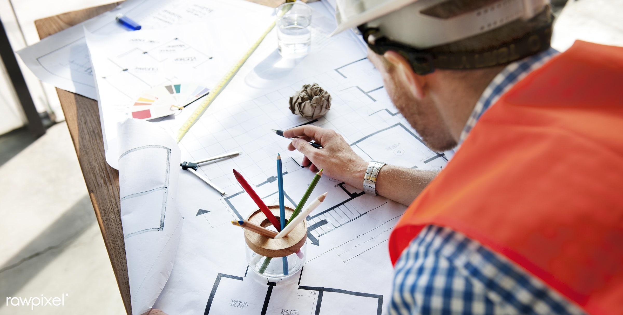 architect, architecture, blue print, board, building, construction, designer, discussion, engineering, man, meeting, office...